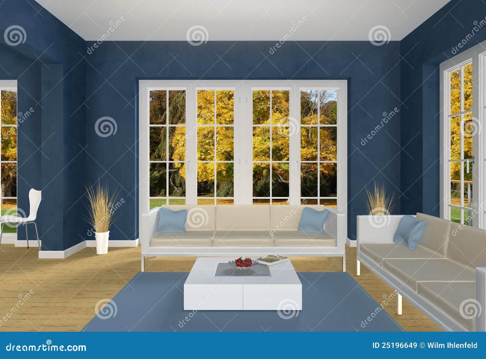 Gefingeerde woonkamer met witte bank royalty vrije stock ...