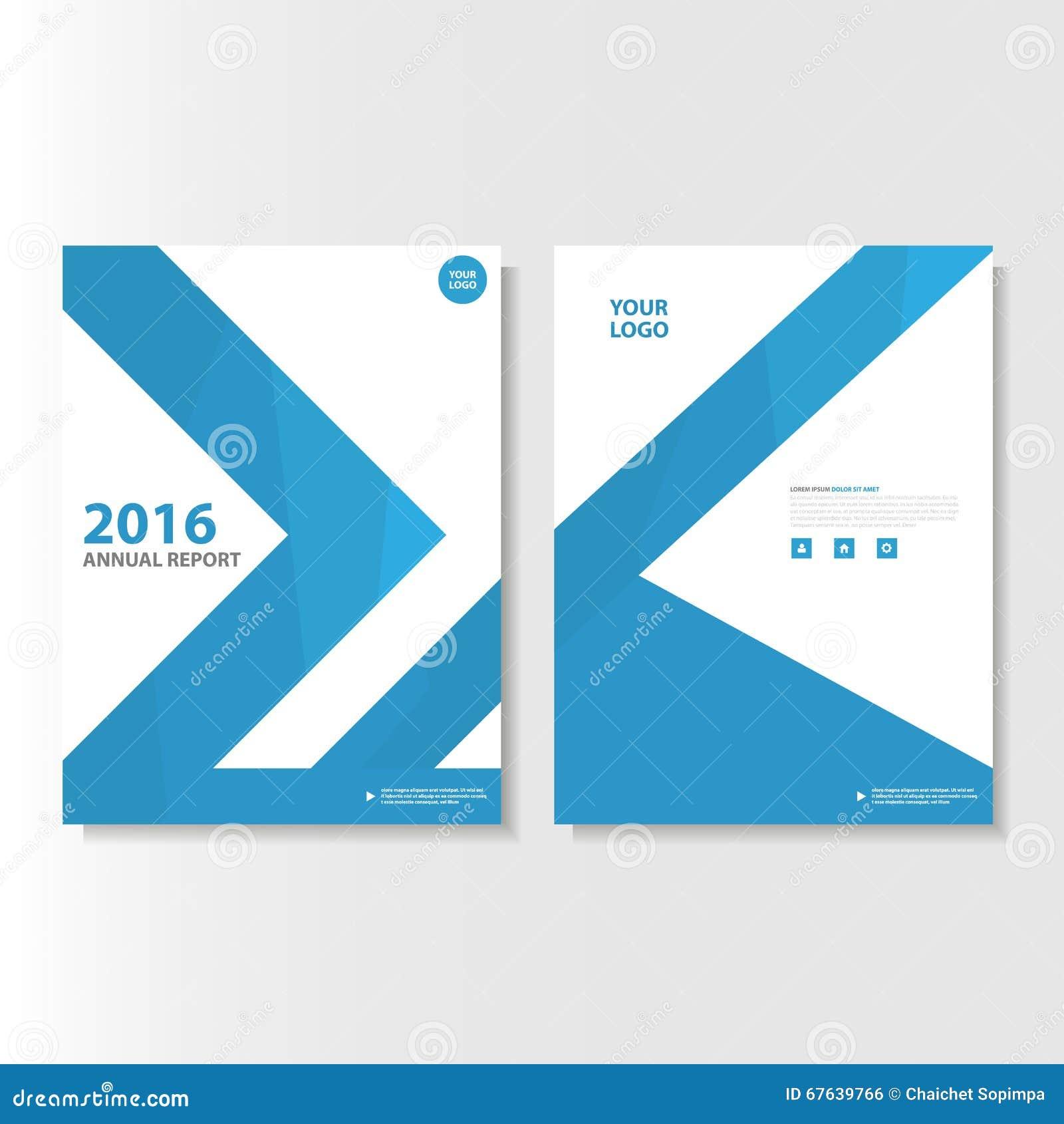 Het blauwe Vector van de het Pamfletbrochure van het jaarverslagtijdschrift ontwerp van het de Vliegermalplaatje, de lay-outontwe