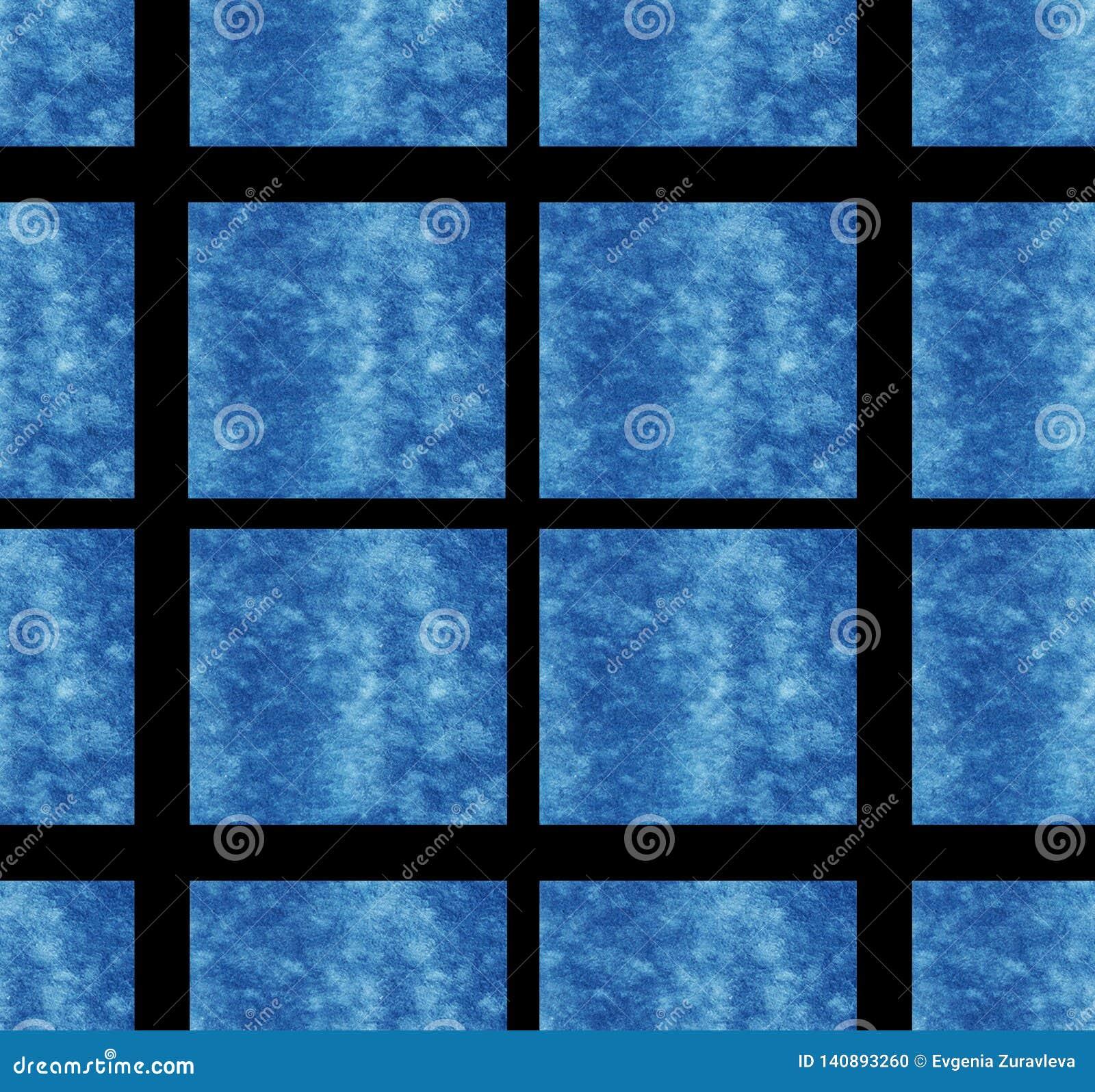 Het blauwe vierkante van de het ontwerpkunst patroon van het achtergrondtextuurbehang van de de achtergrond kubusdecoratie abstra