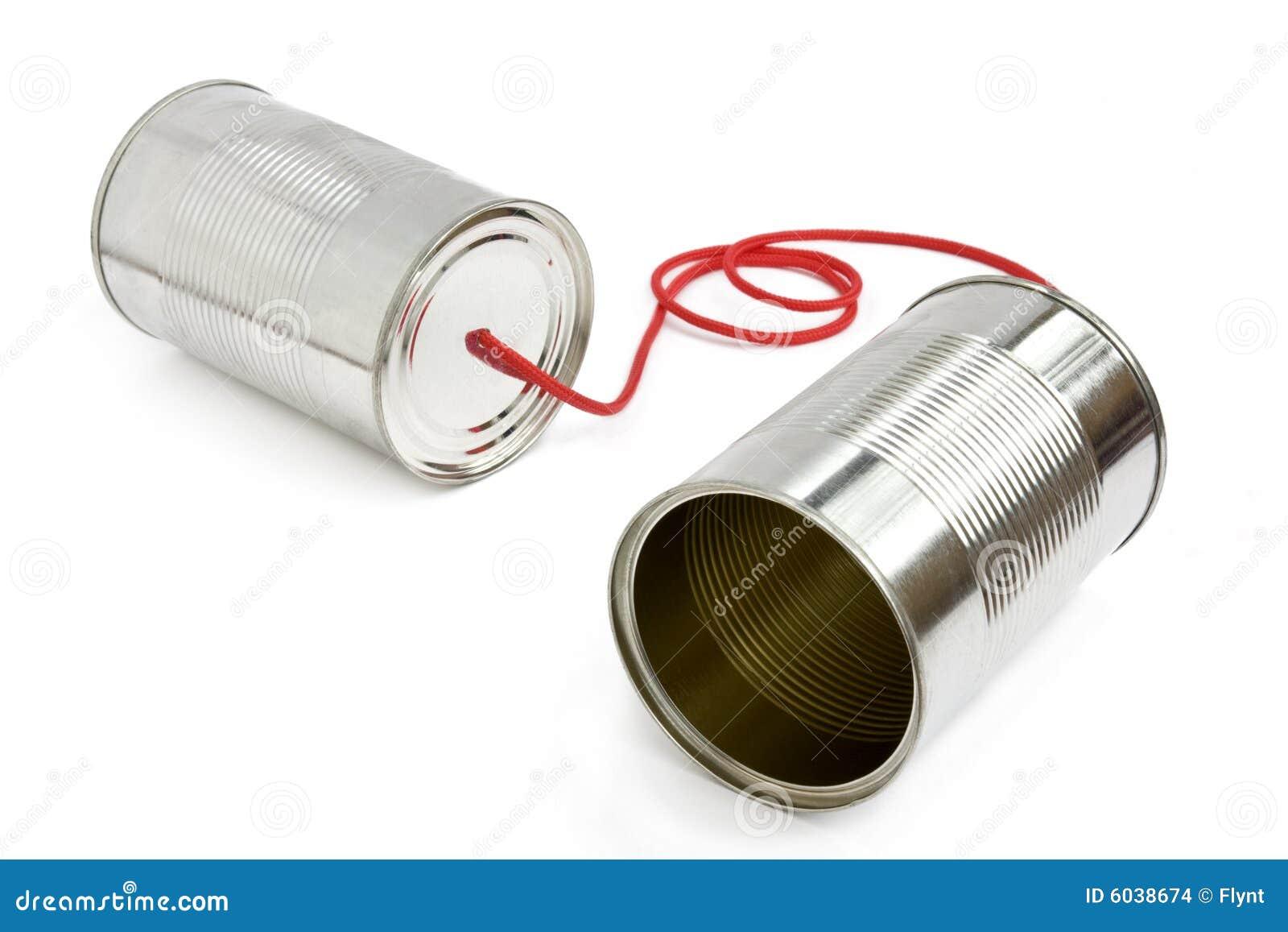 Het bliktelefoon van het tin