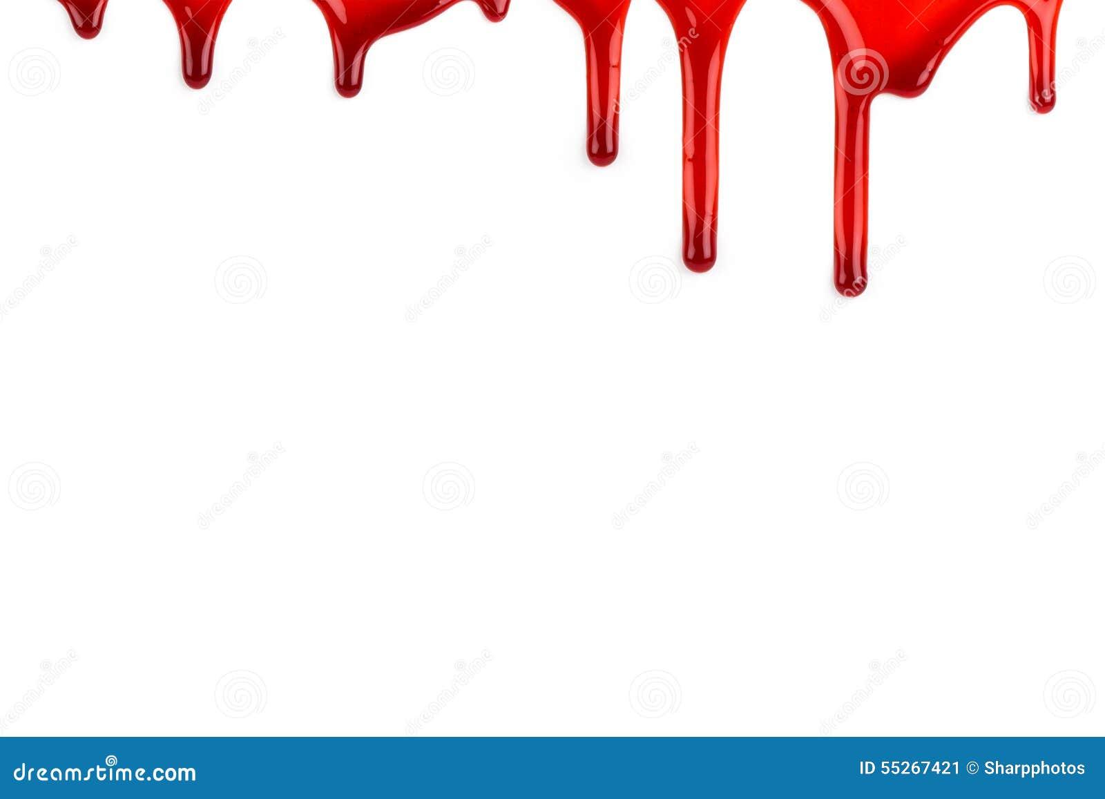 Het bloed scheidt af