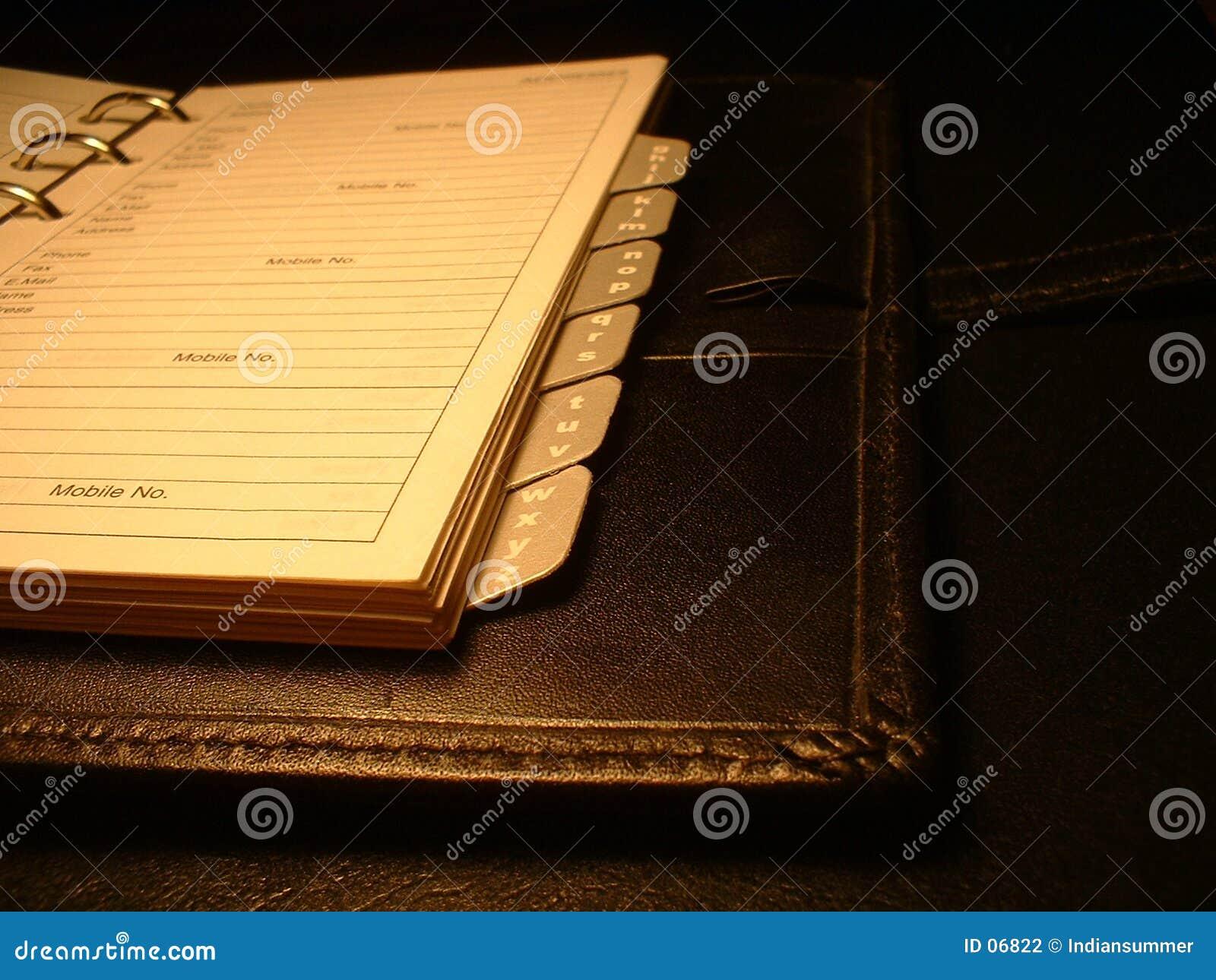 Het boek van het adres