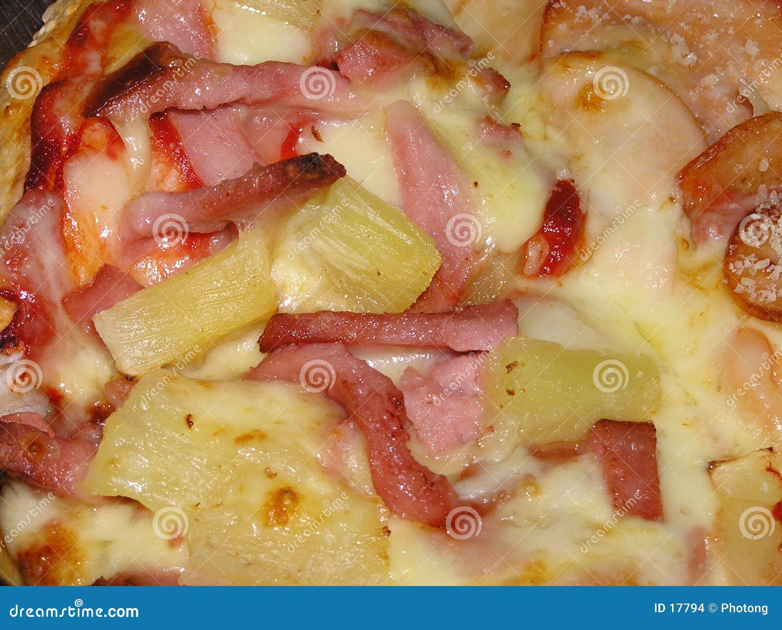 Het bovenste laagje van de pizza