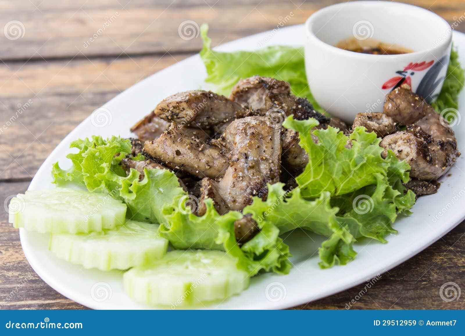 Het braadstuk van het varkensvlees
