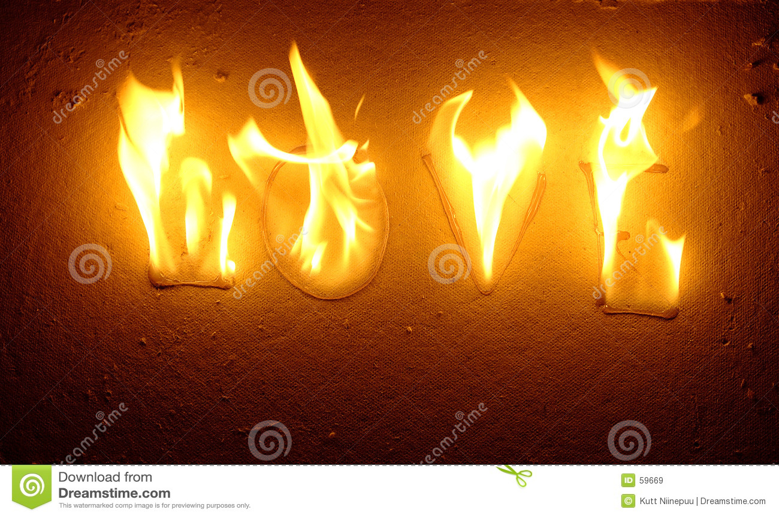Het branden liefde