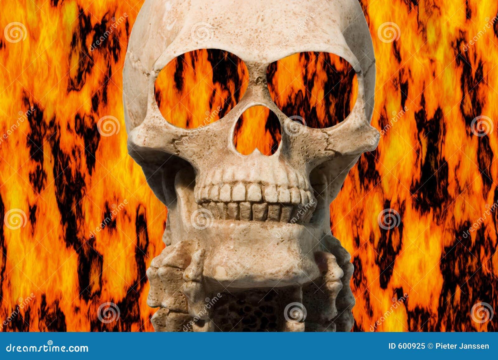 Het branden van schedel