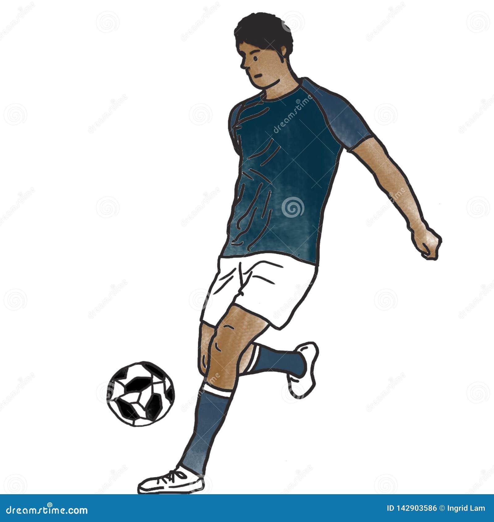 Het Braziliaanse Voetbalster praktizeren