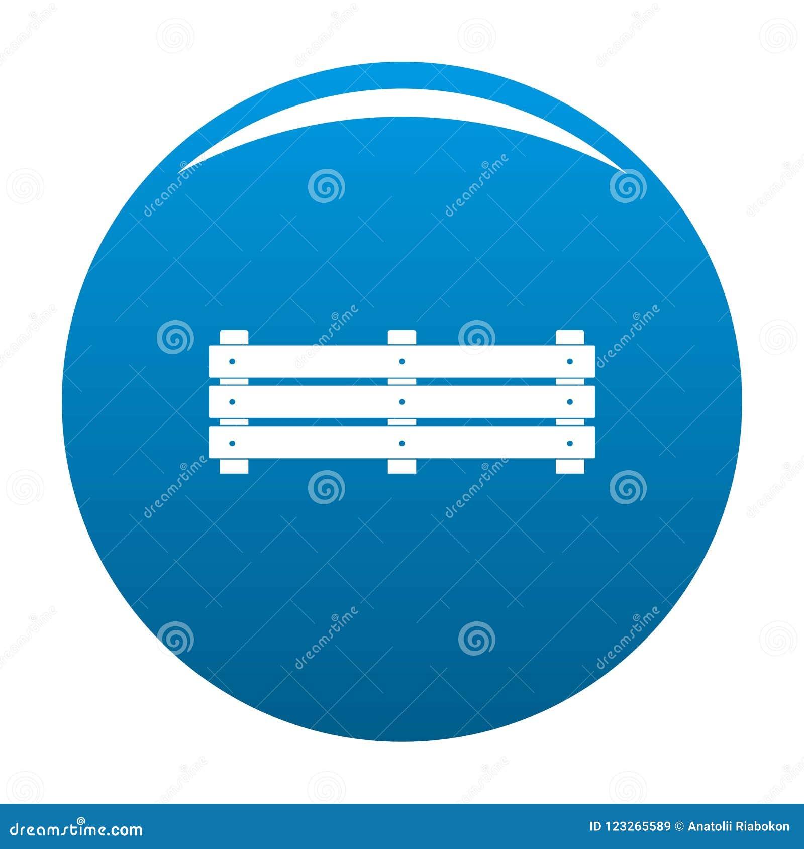 Het brede blauw van het omheiningspictogram