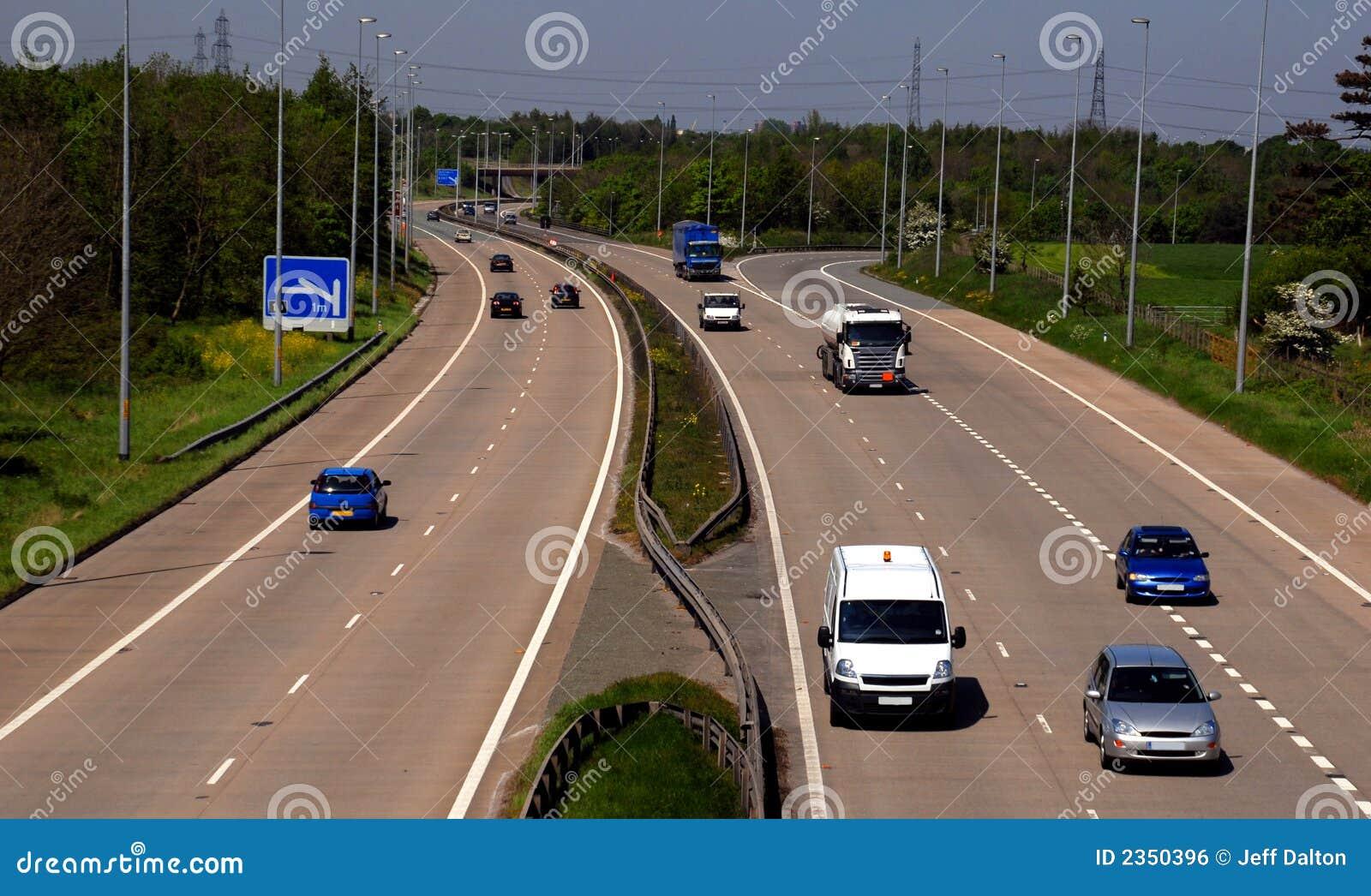 Het Britse Verkeer van de Autosnelweg