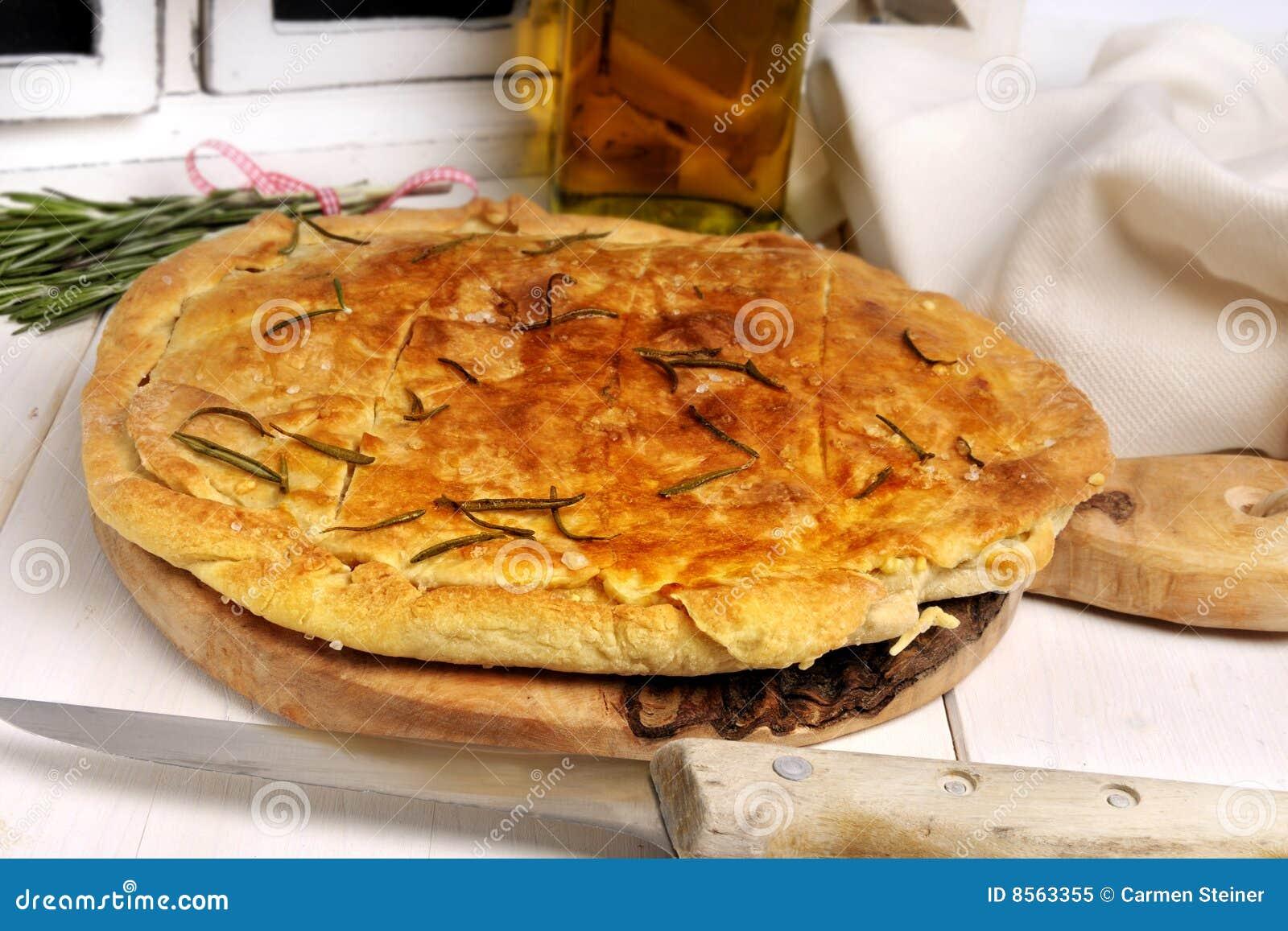 Het brood van Focaccia