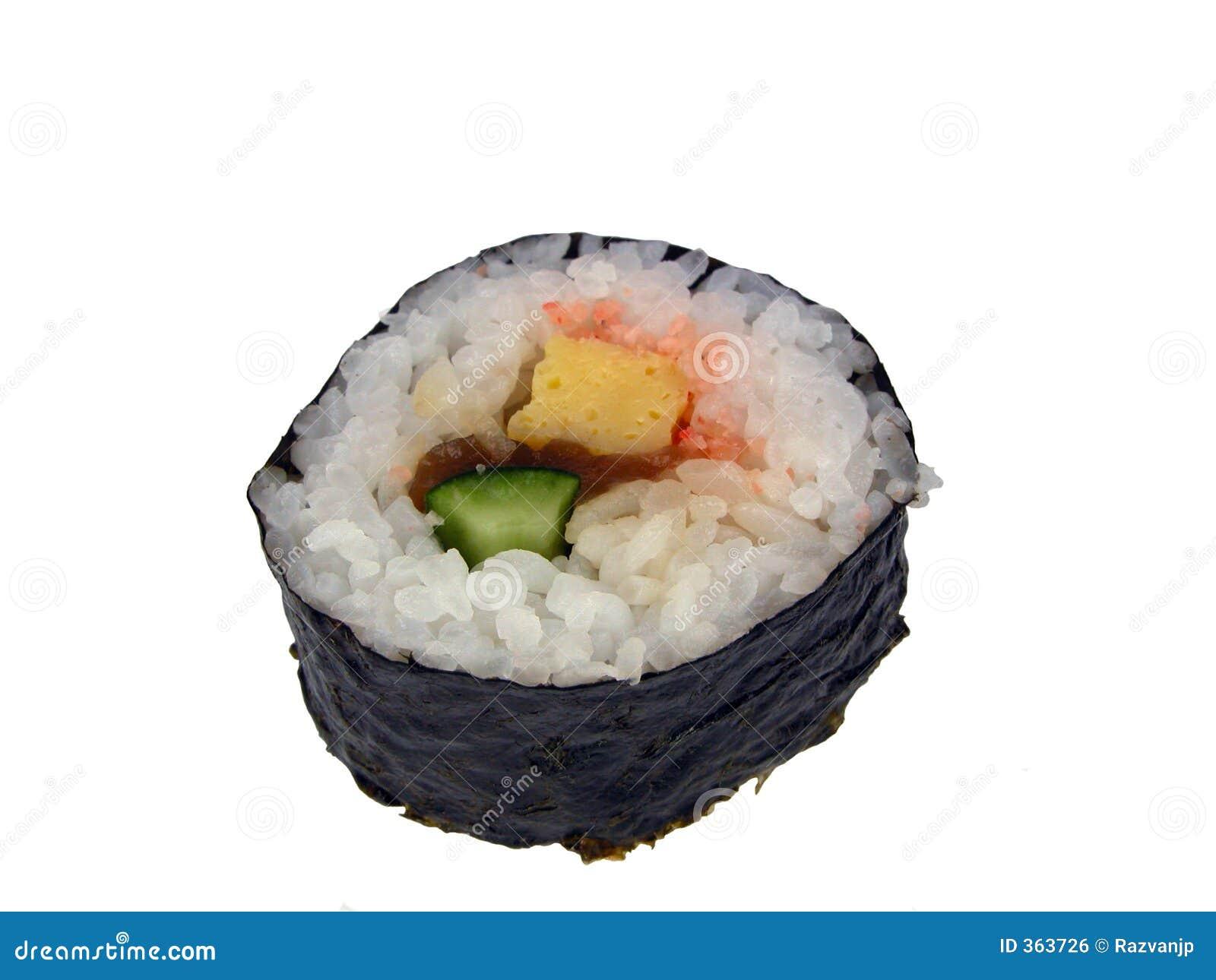 Het broodje-ontwerp van sushi element