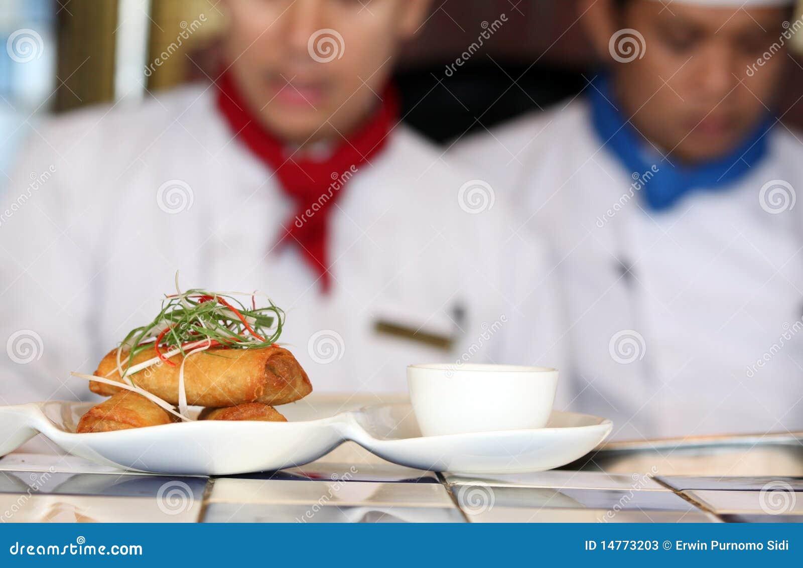 Het broodje van de lente bij restaurant