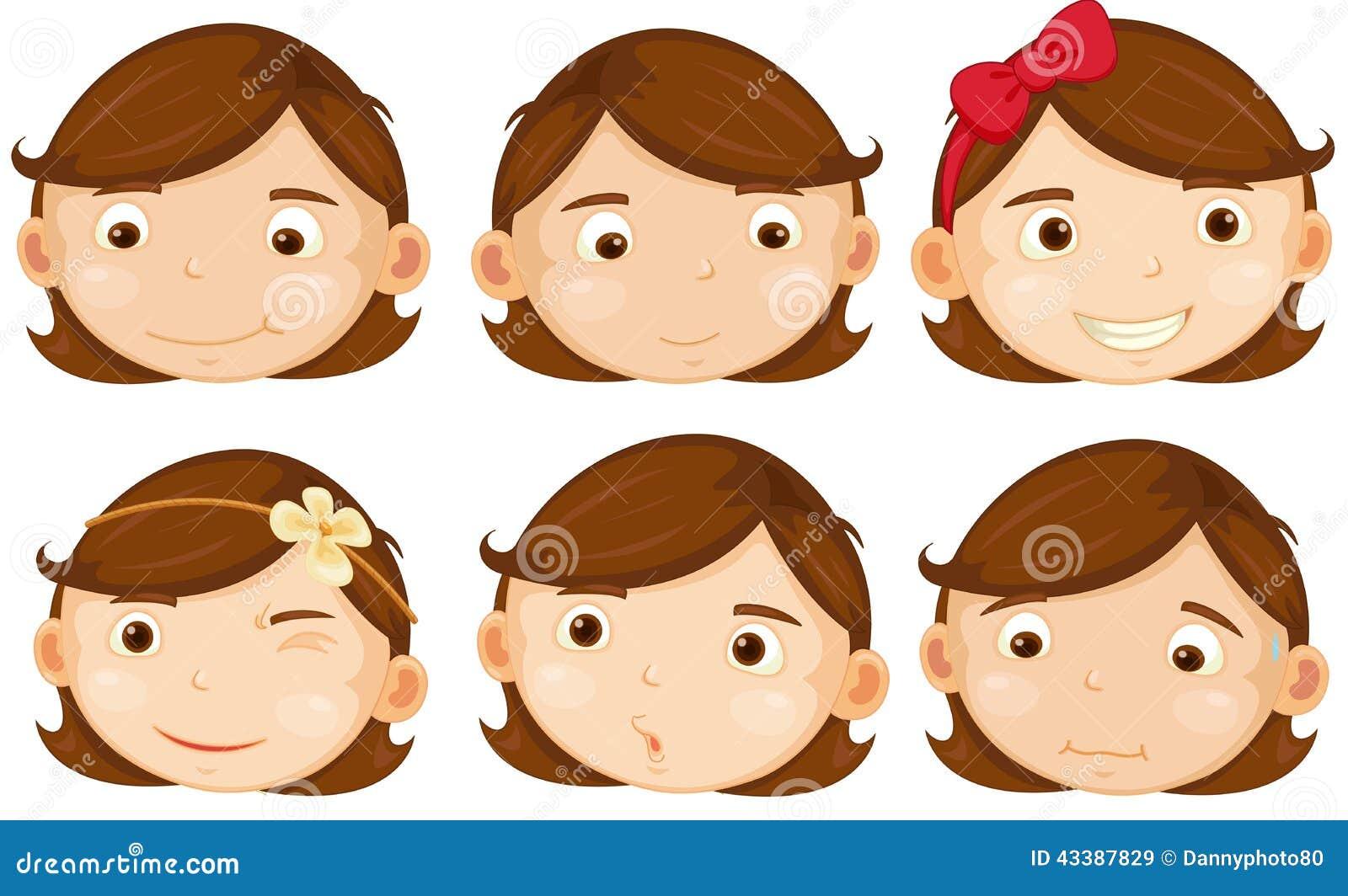Het bruine Meisje van het Haar