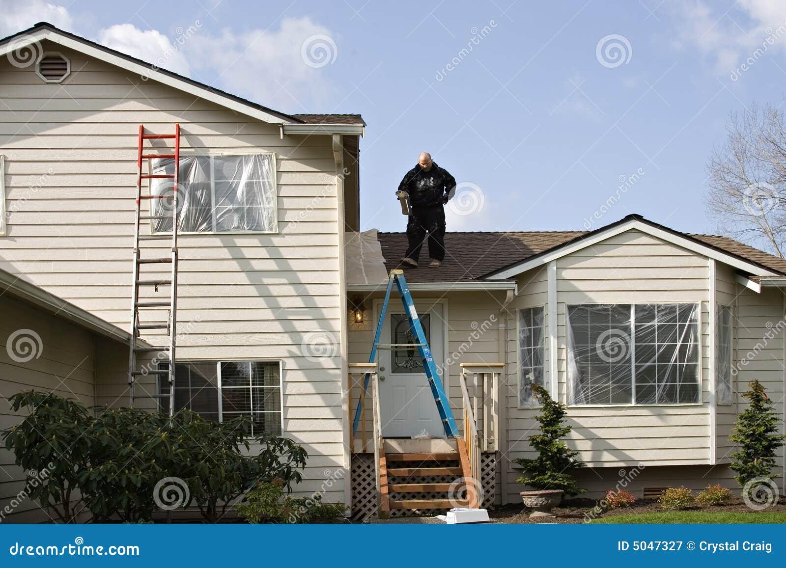 Het buiten schilderen van het huis royalty vrije stock fotografie afbeelding 5047327 - Huis van kind buiten ...