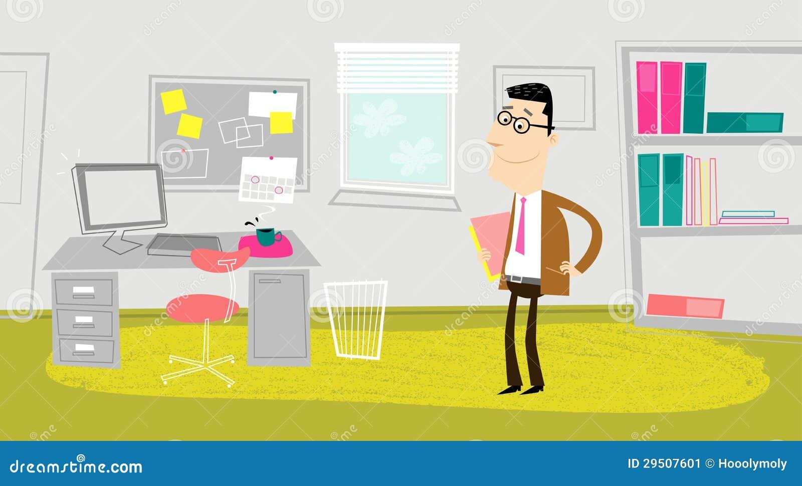 In het bureau