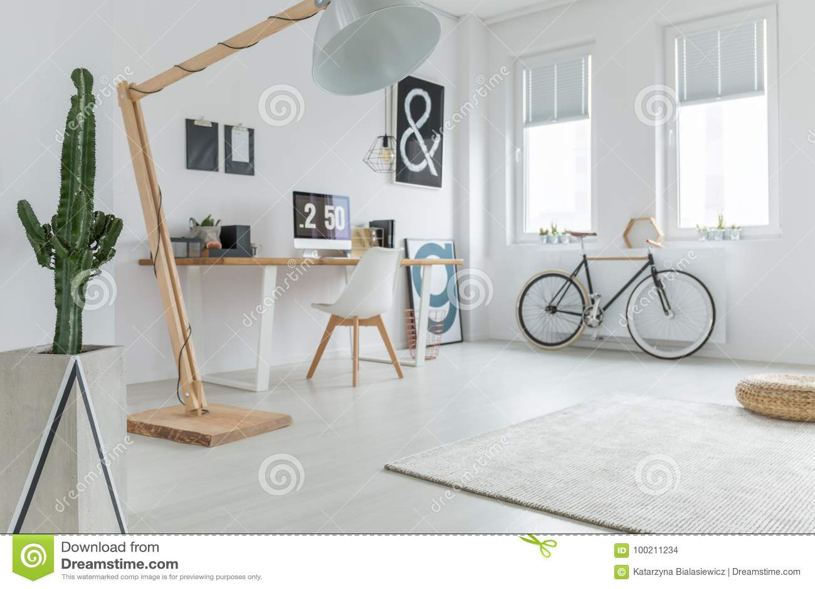 Het bureau van het Blogger` s huis