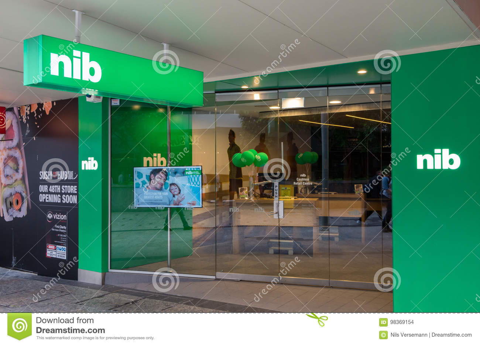 Het bureau van de BONENverzekering in centraal Brisbane, Australië