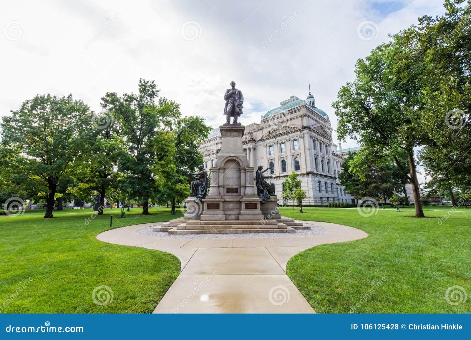 Het Bureau van de het Huisreis van de staat in Indianapolis Indiana During Summer