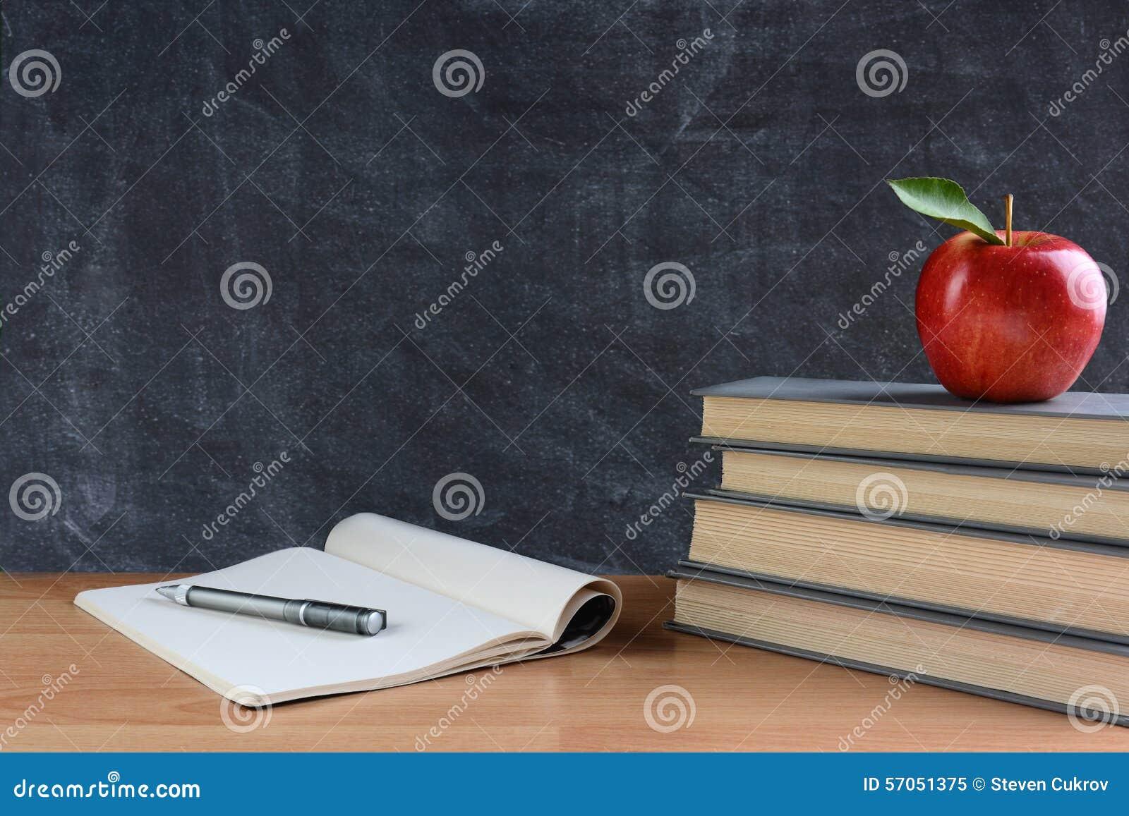 Het bureau van de leraar