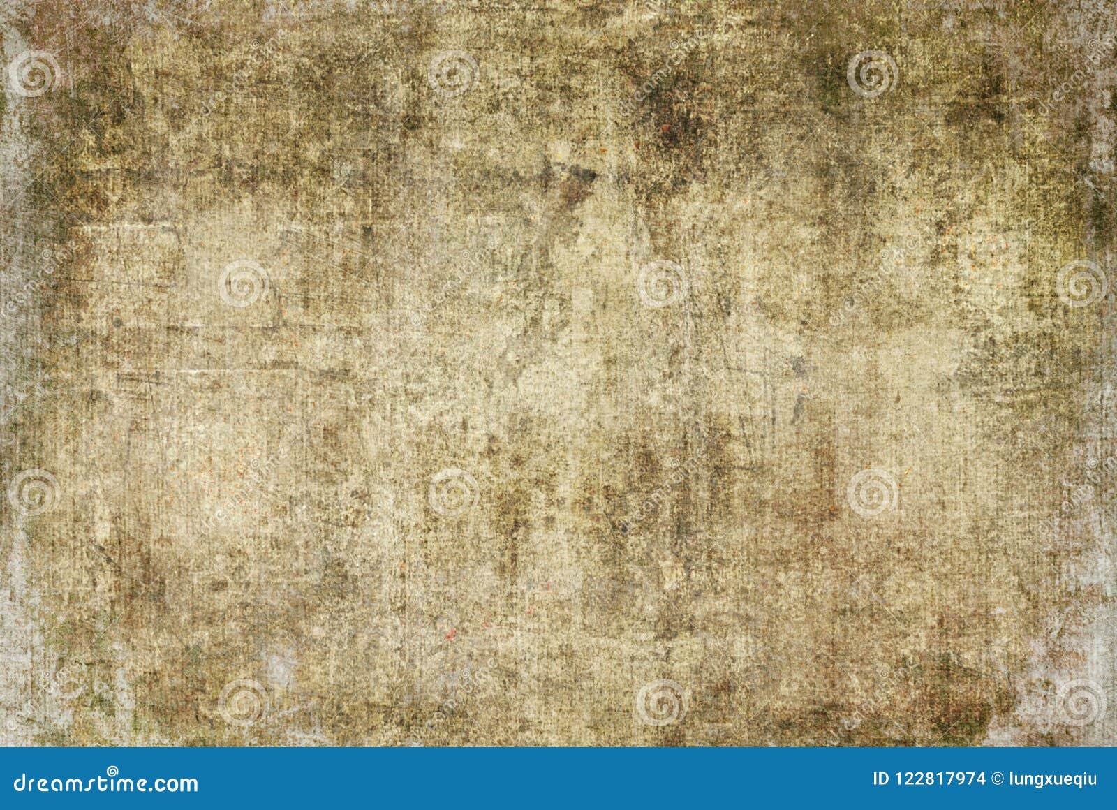 Het Canvas van aard Bruin Gebarsten Grunge Donker Rusty Distorted Decay Old Abstract het Schilderen Textuurpatroon Autumn Backgro