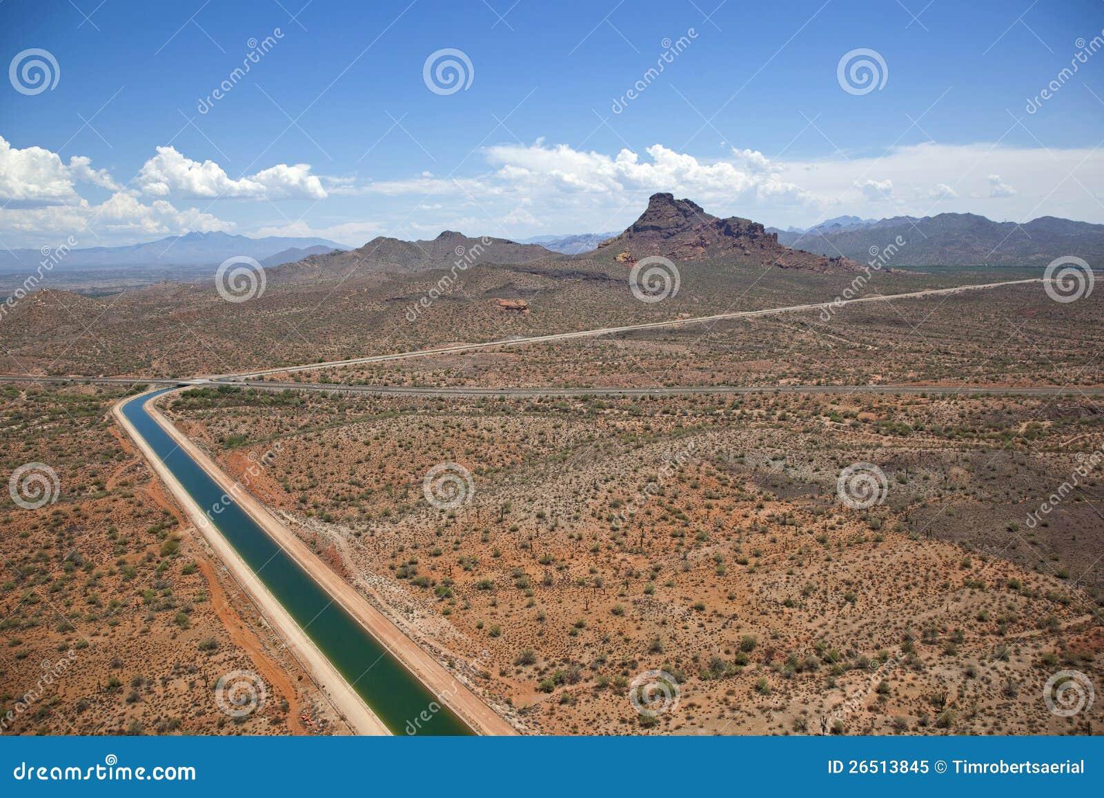 Het centrale Project van Arizona dichtbij Scottsdale, Arizona