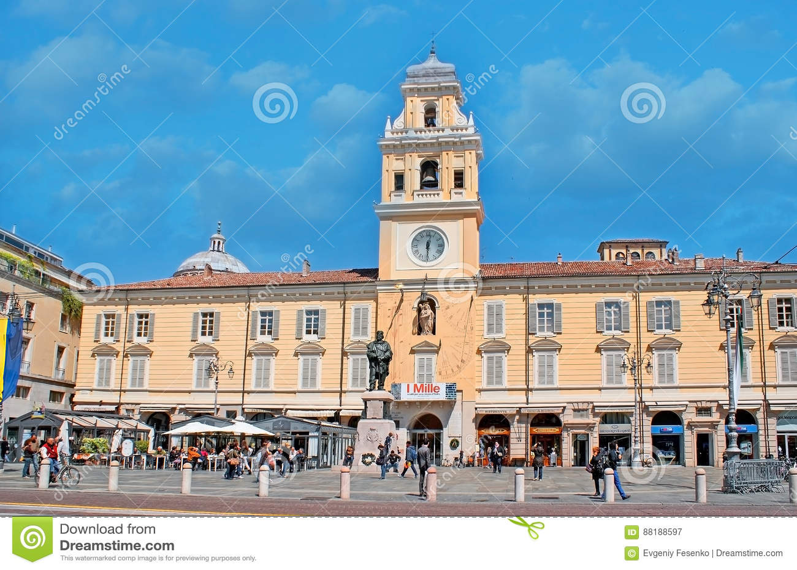 Het centrale vierkant van Parma