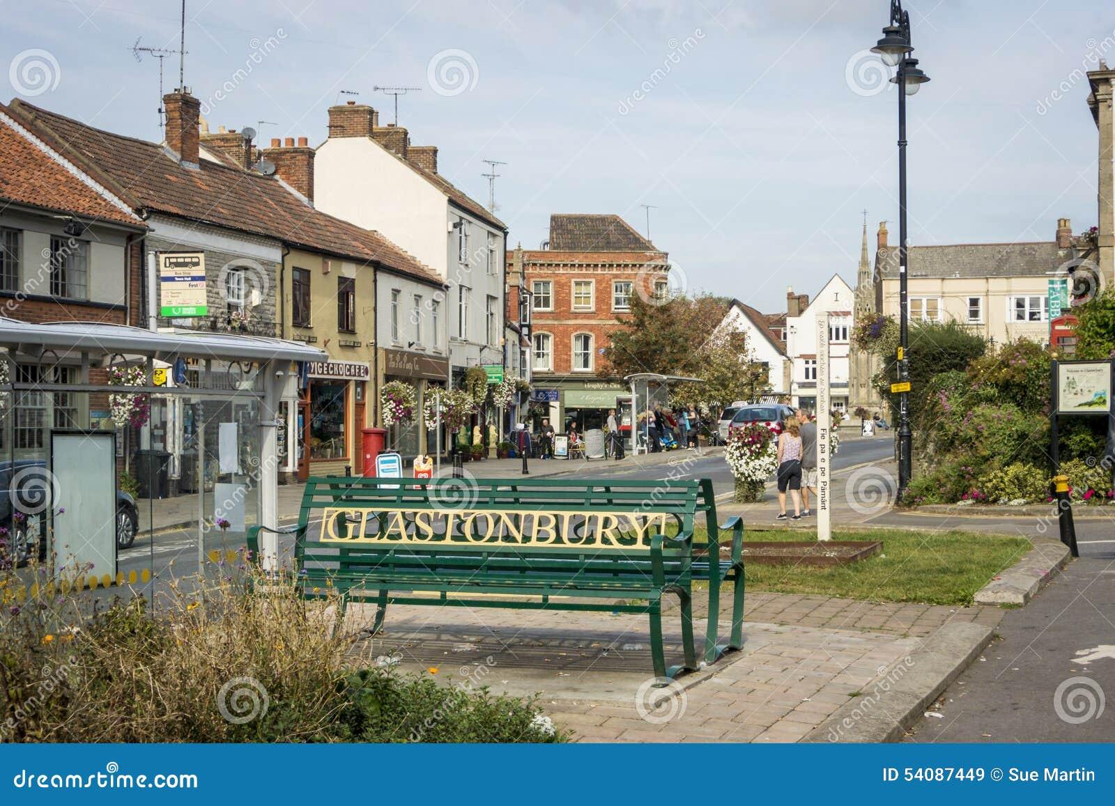 Het Centrum van de Glastonburystad