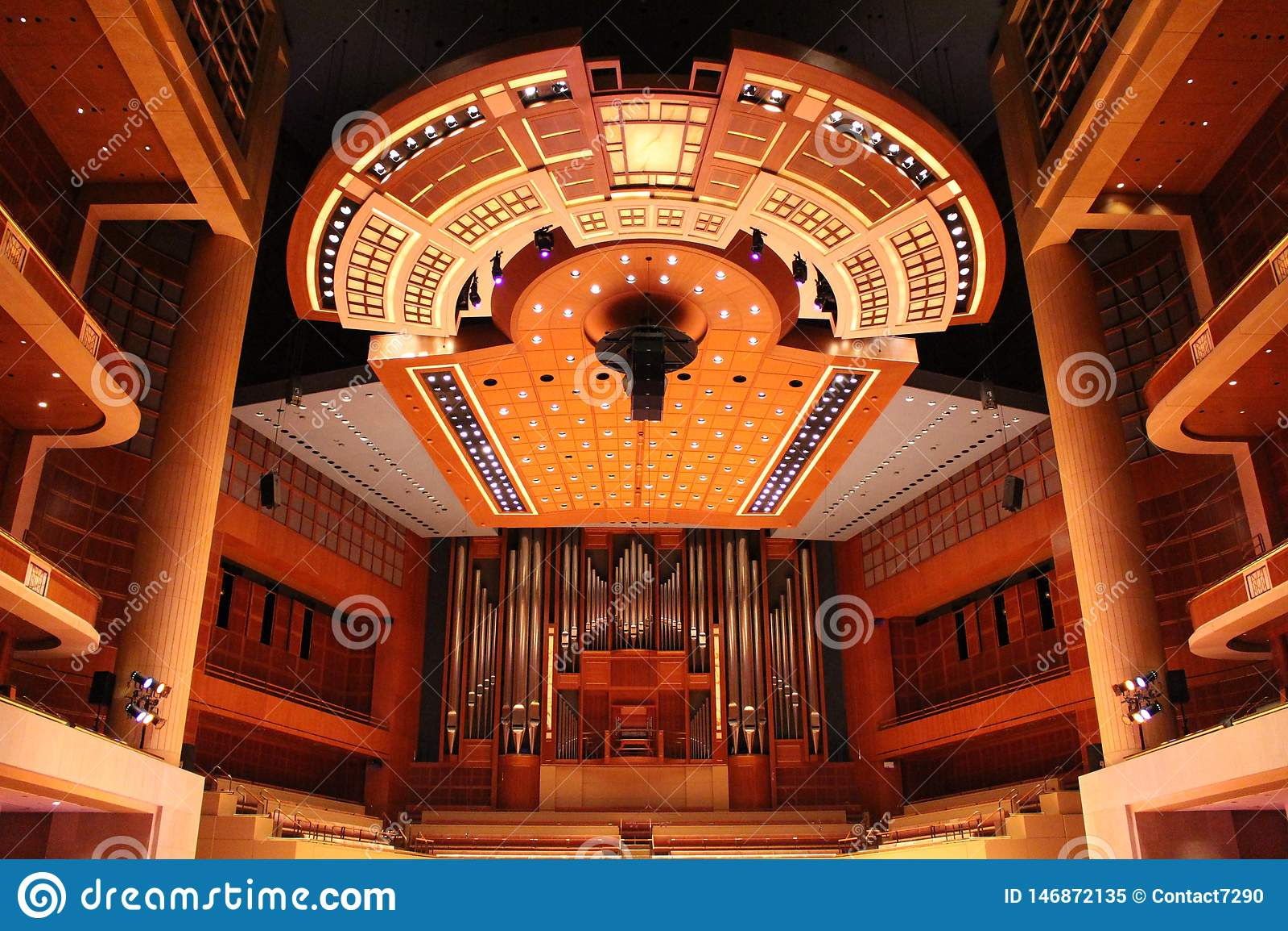 Het Centrum van de Meyersonsymfonie, huis van Dallas Symphony Orchestra