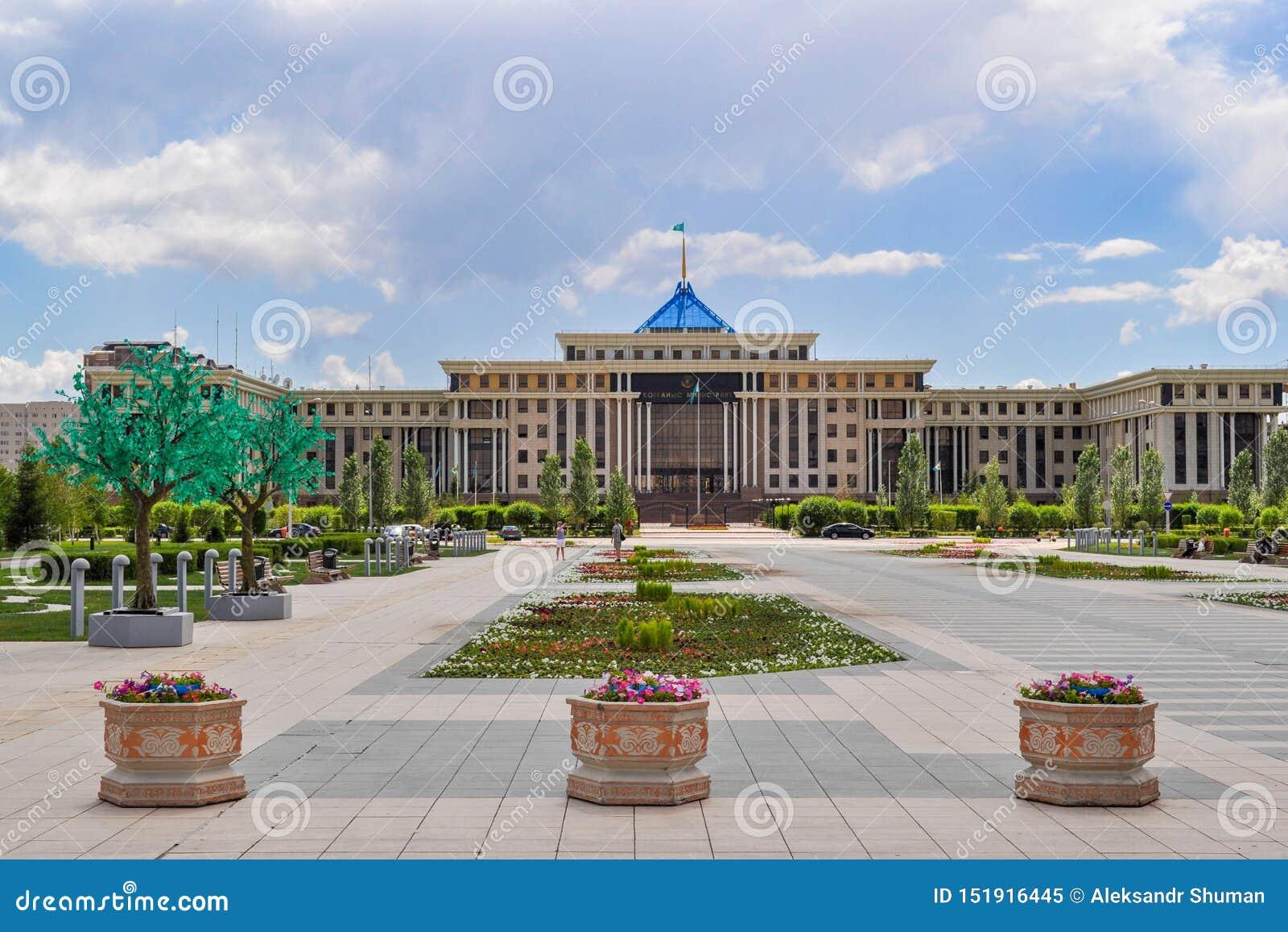 In het centrum van Nursultan