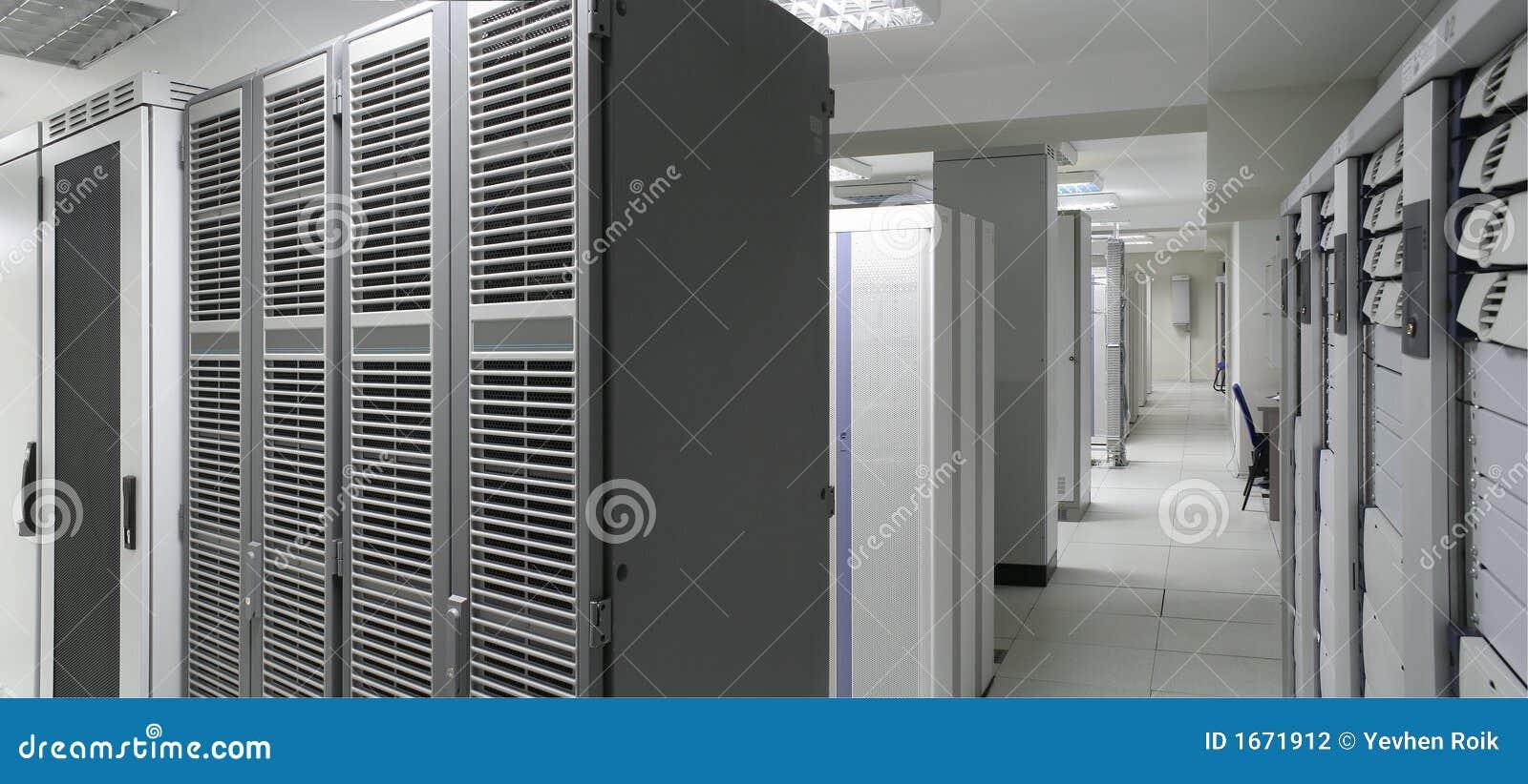 Het centrum van servers