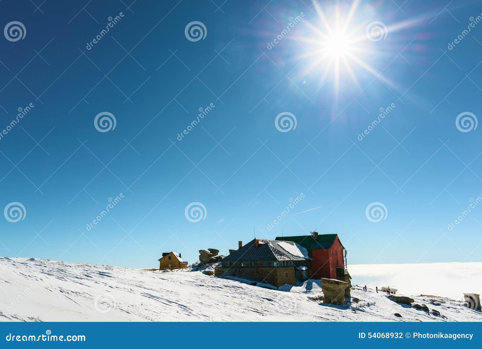 Het chalet van de de winterski