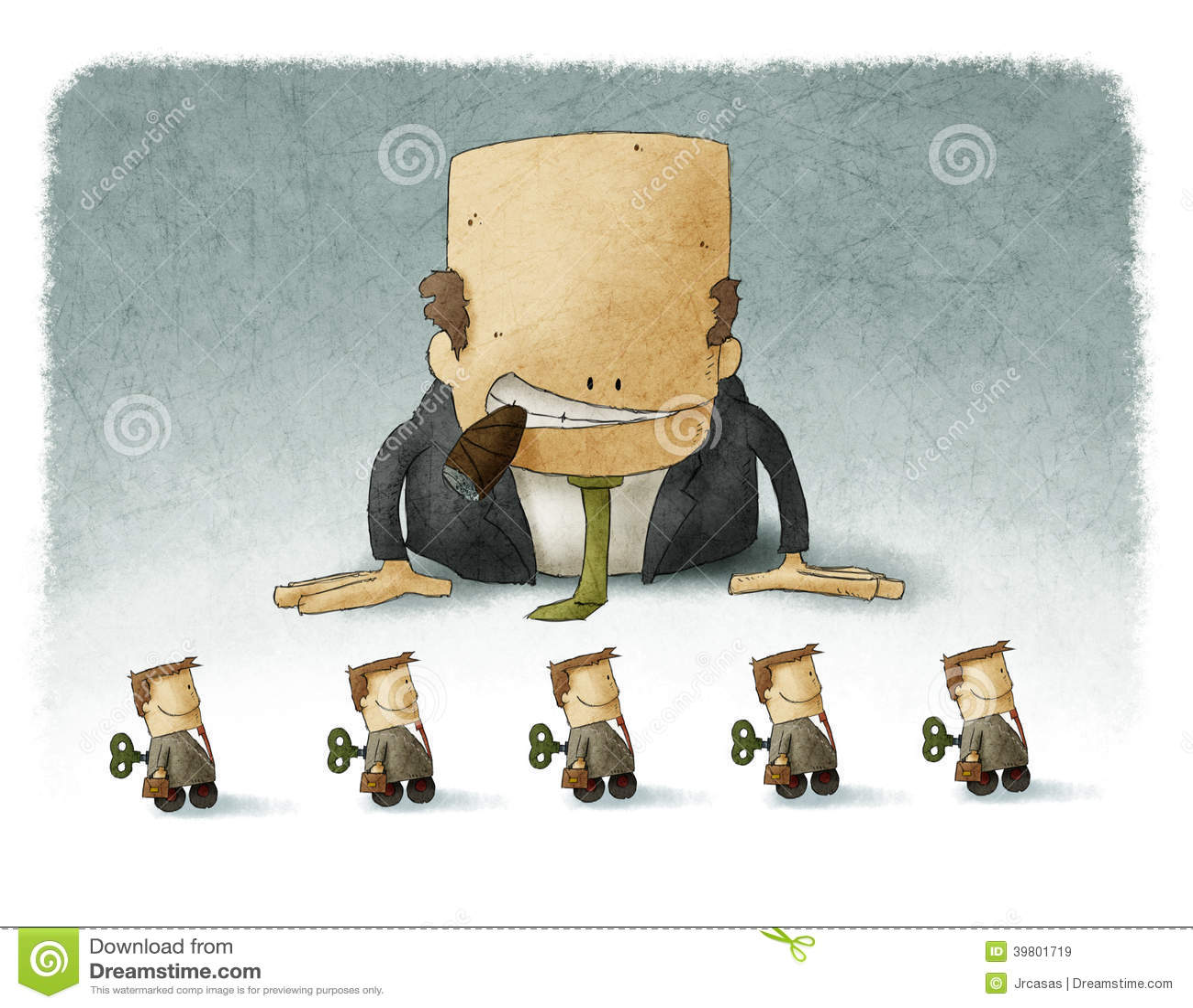 Het chef- spelen met werknemers