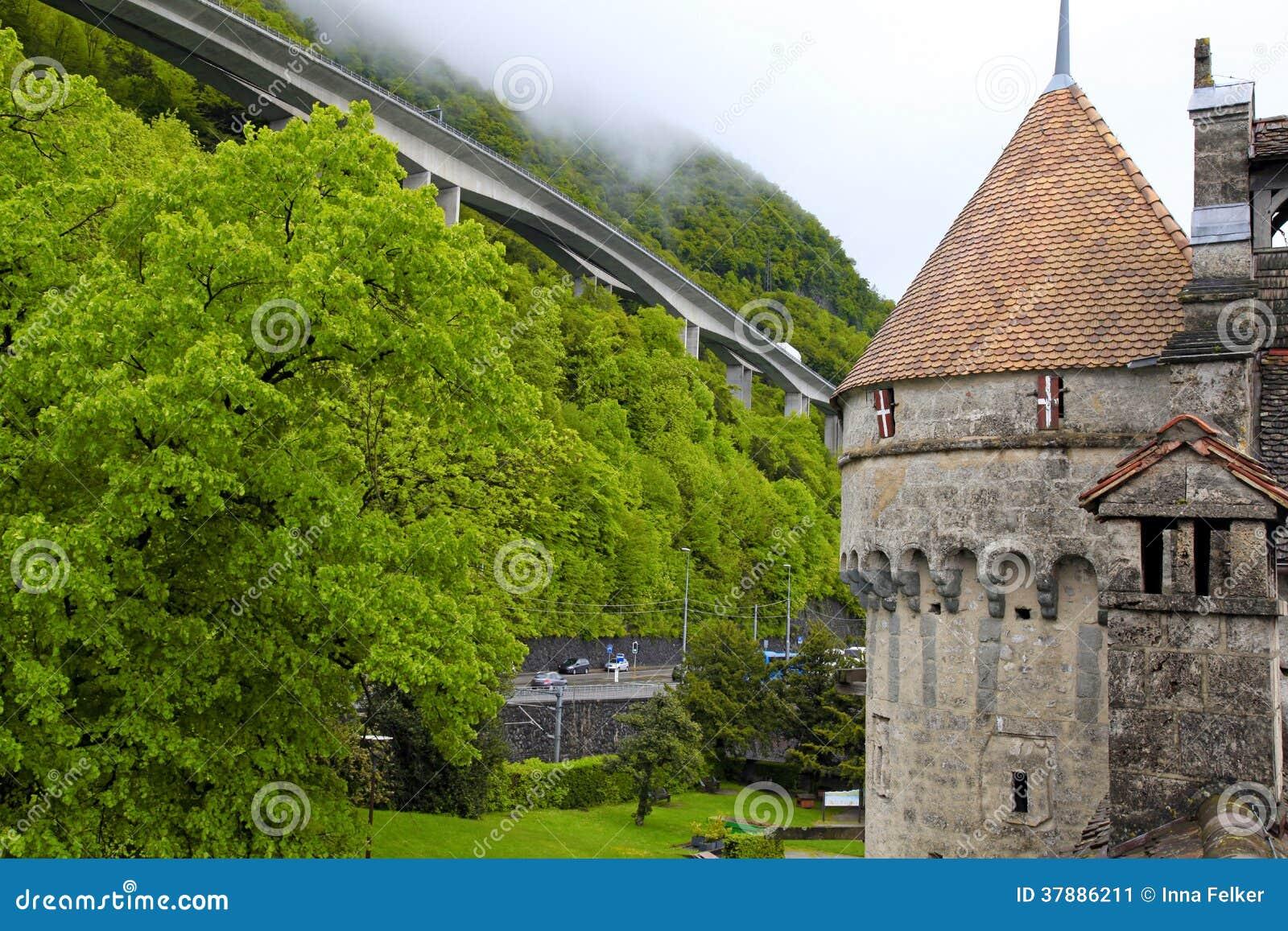 Het Chillon-Kasteel (Chateau DE Chillon), Zwitserland