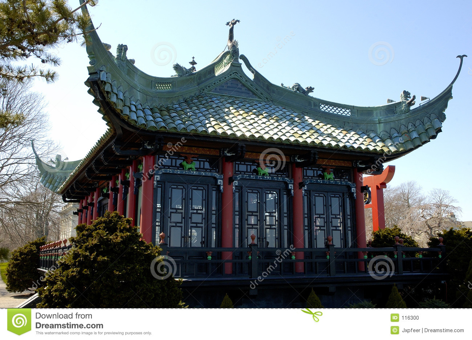 Het chinese huis van de thee stock foto afbeelding 116300 for De ingang van het huis