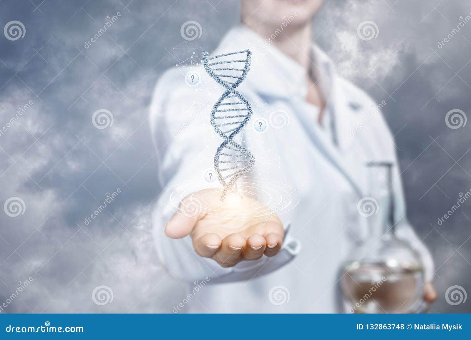 Het concept is de innovaties in DNA-onderzoek