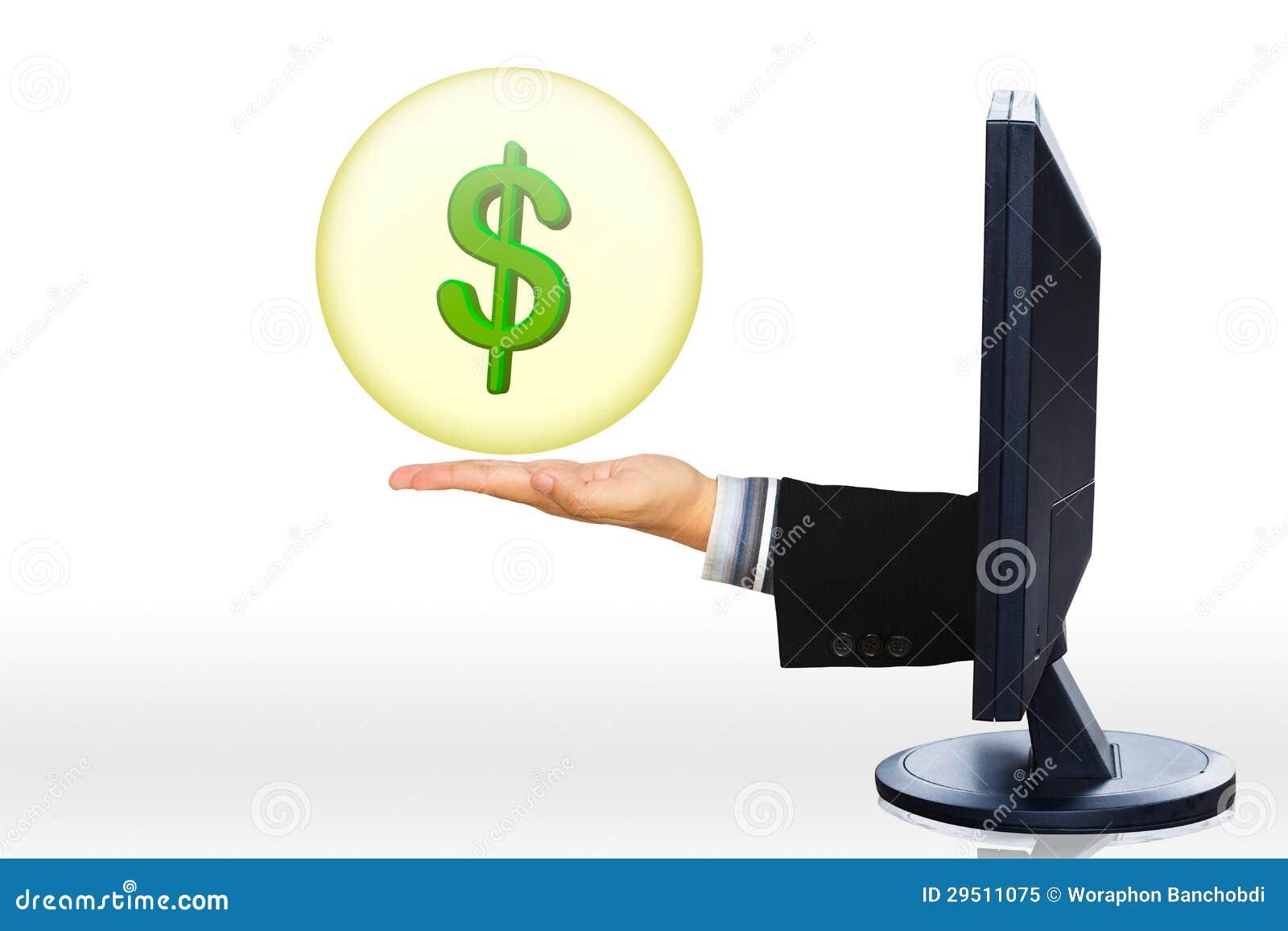 Het concept elektronische handel/online het winkelen/e-business/Internet bedelaars