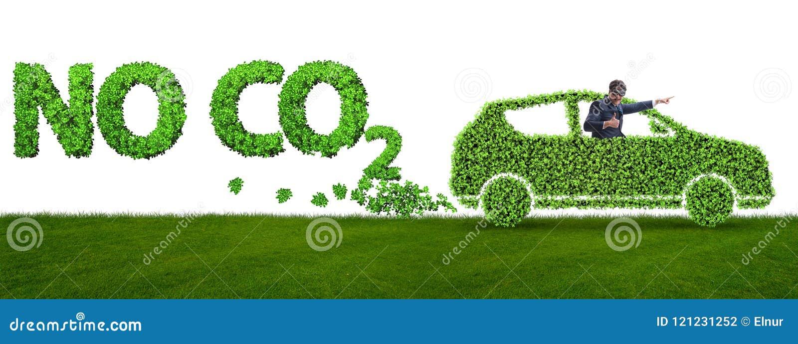 Het concept schone brandstof en eco vriendschappelijke auto s