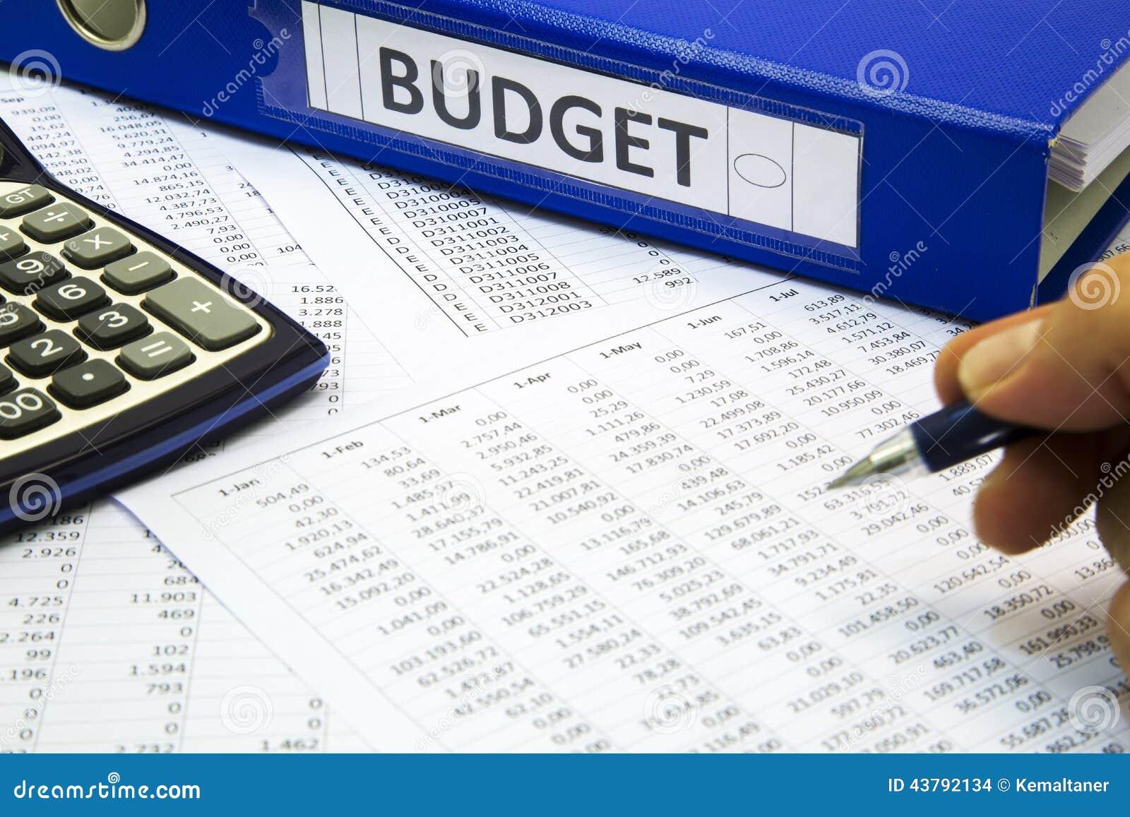 Het concept van de begroting