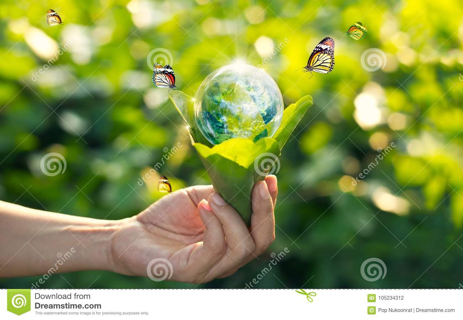Het concept van de besparingsenergie, Aardedag