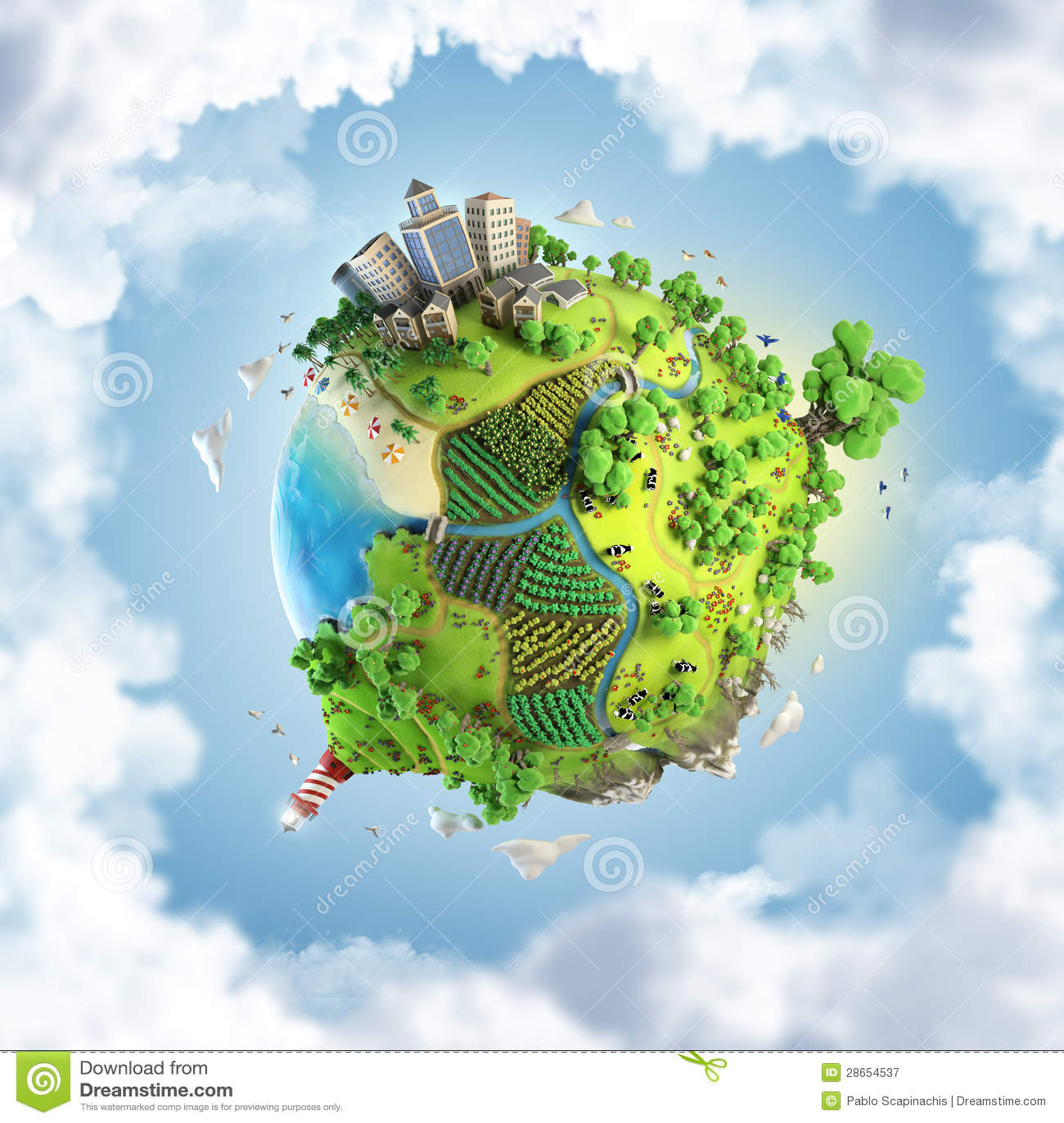 Het concept van de bol idyllische groene wereld royalty vrije stock fotografie beeld 28654537 - Basket thuis van de wereld ...