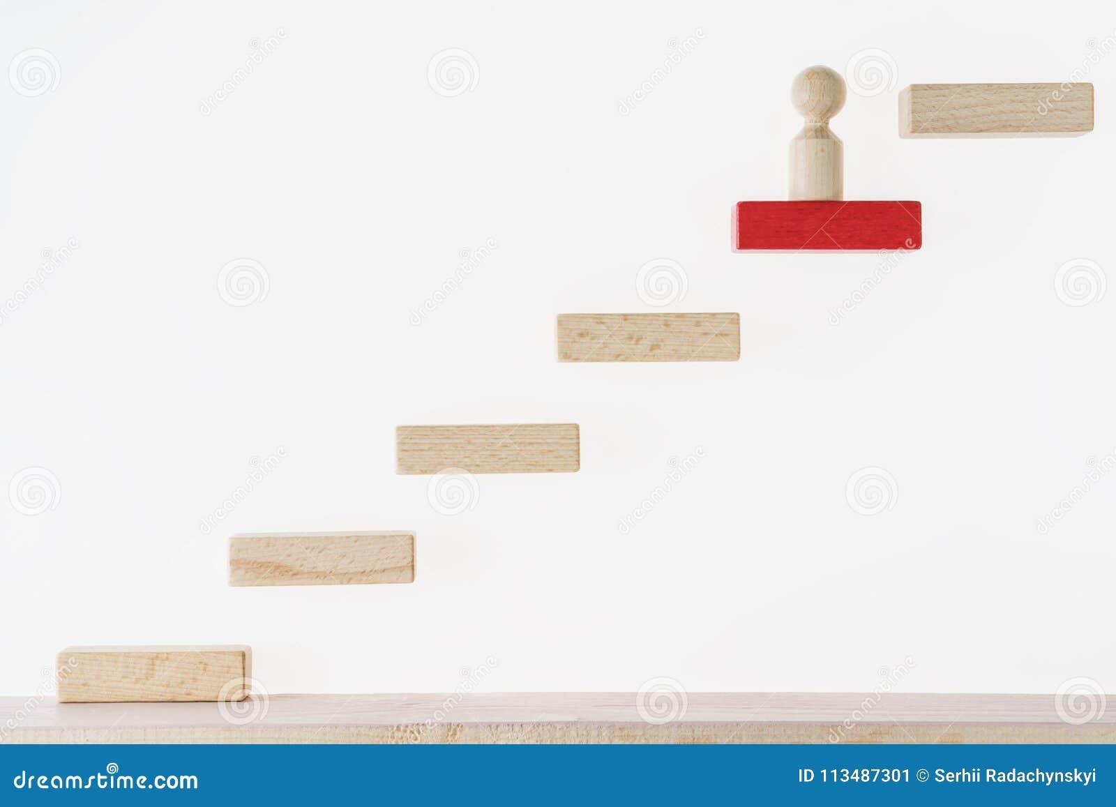 Het concept van de carrière Bedrijfs metafoor Concept bedrijfs het leren succes De mens beklimt de treden Het bereiken succes Soc