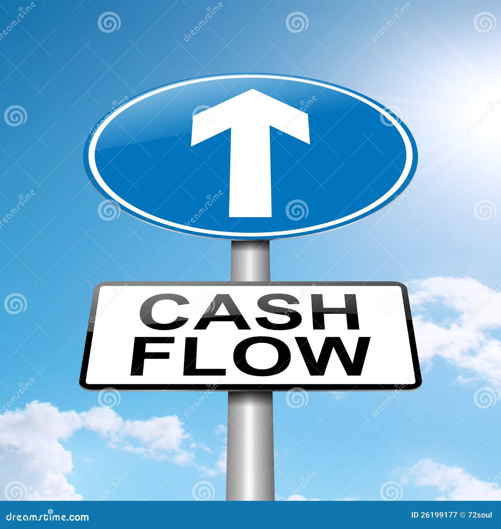 Het concept van de cash flow.