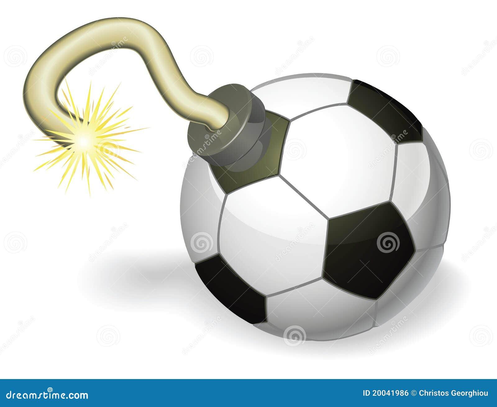 Het concept van de de balbom van het voetbal