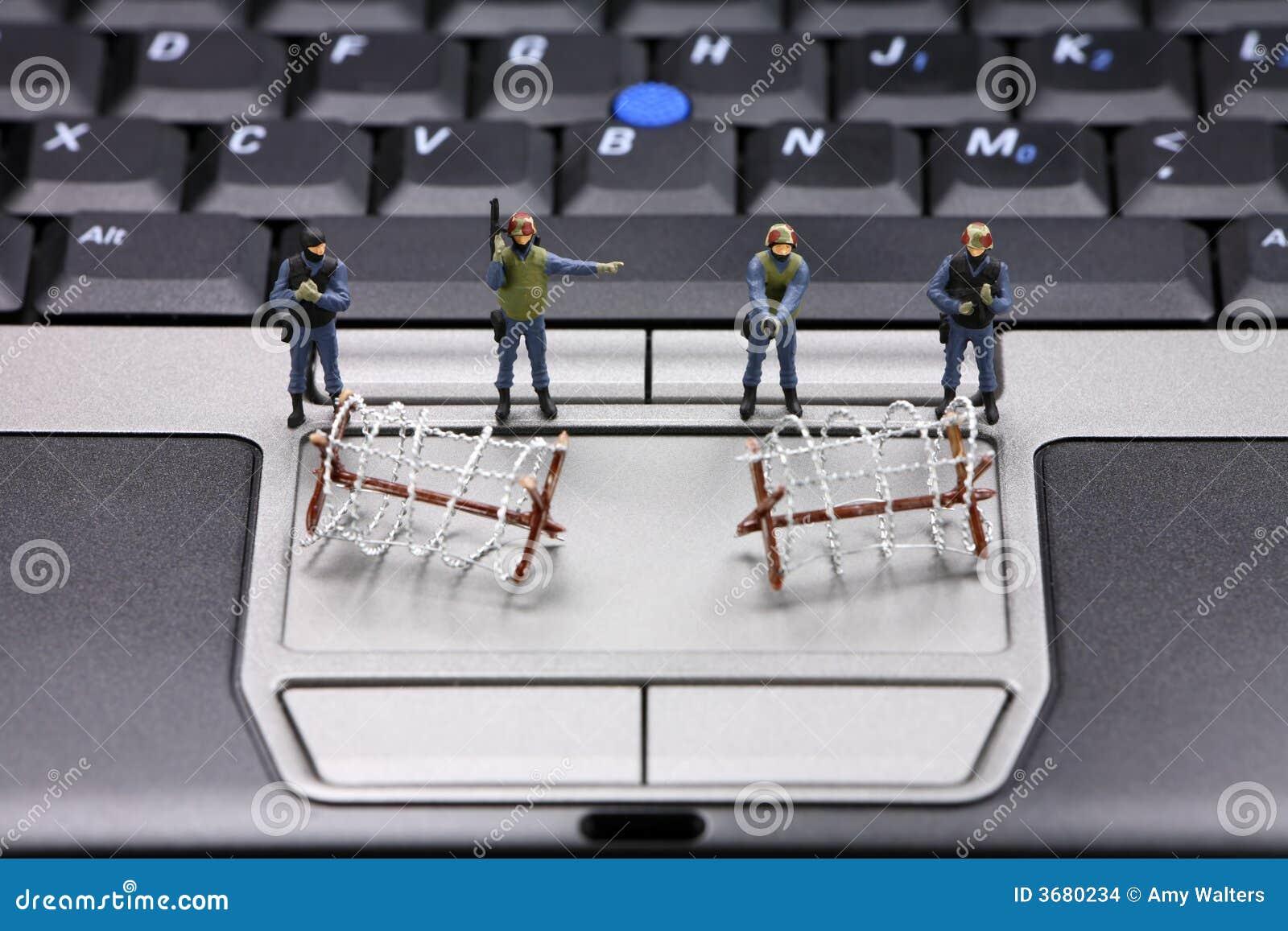Het concept van de de gegevensveiligheid van de computer