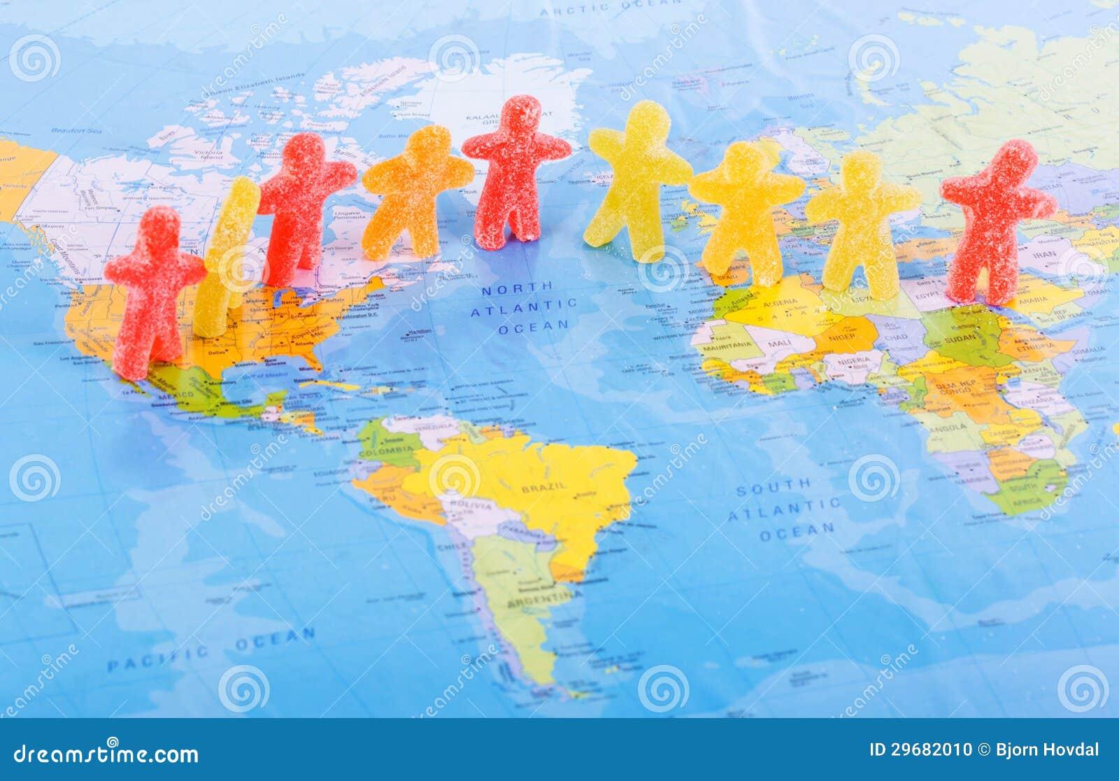 Het concept van de de mensenvrede van de wereld