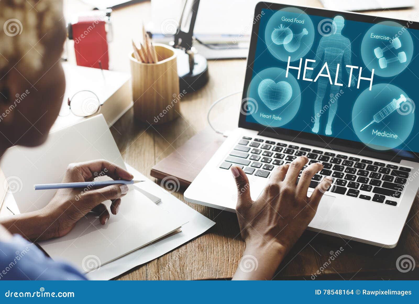 Het Concept van de de Vitaliteitsgezondheidszorg van Wellness van het gezondheidswelzijn