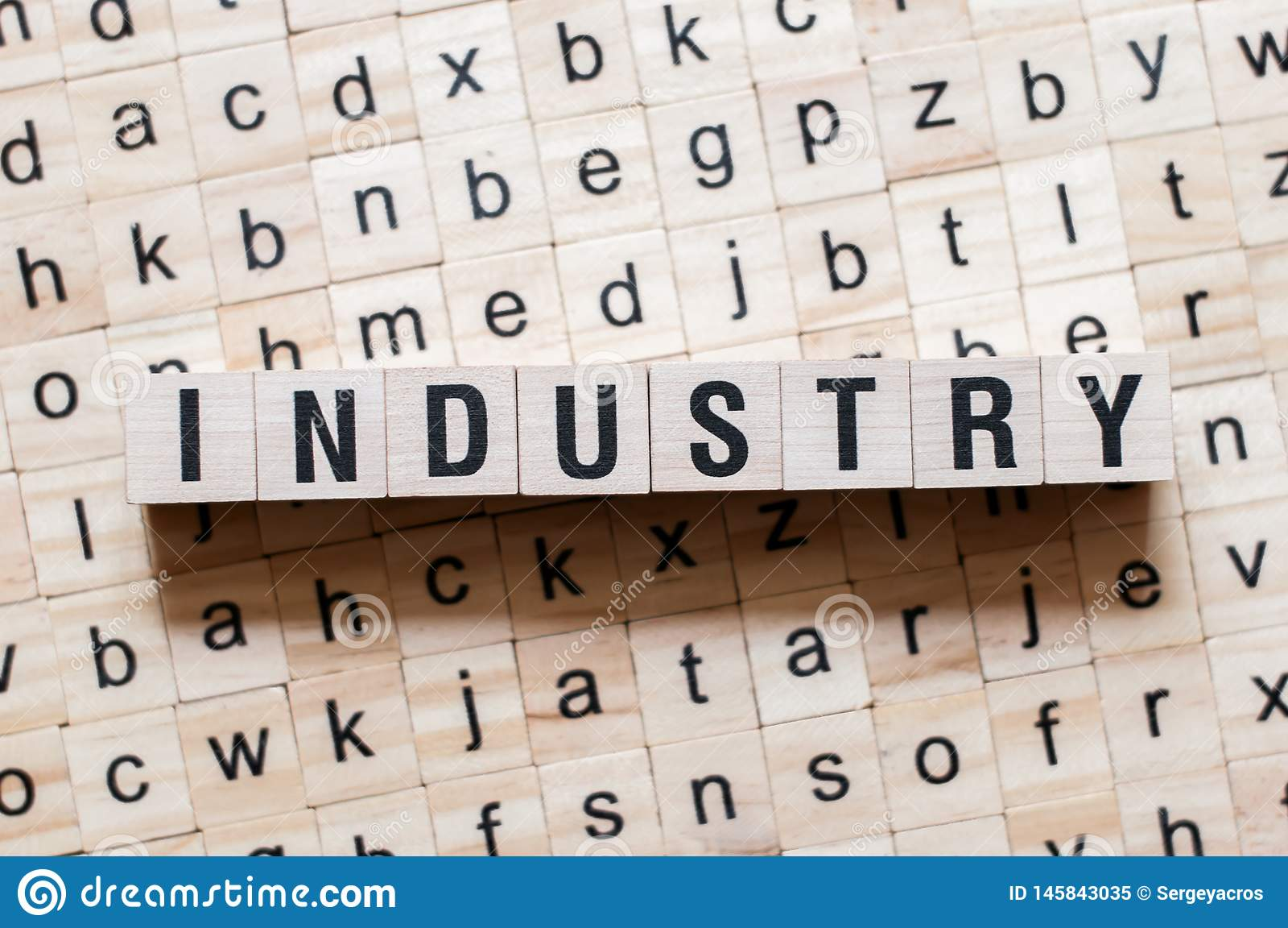 Het concept van het de industriewoord
