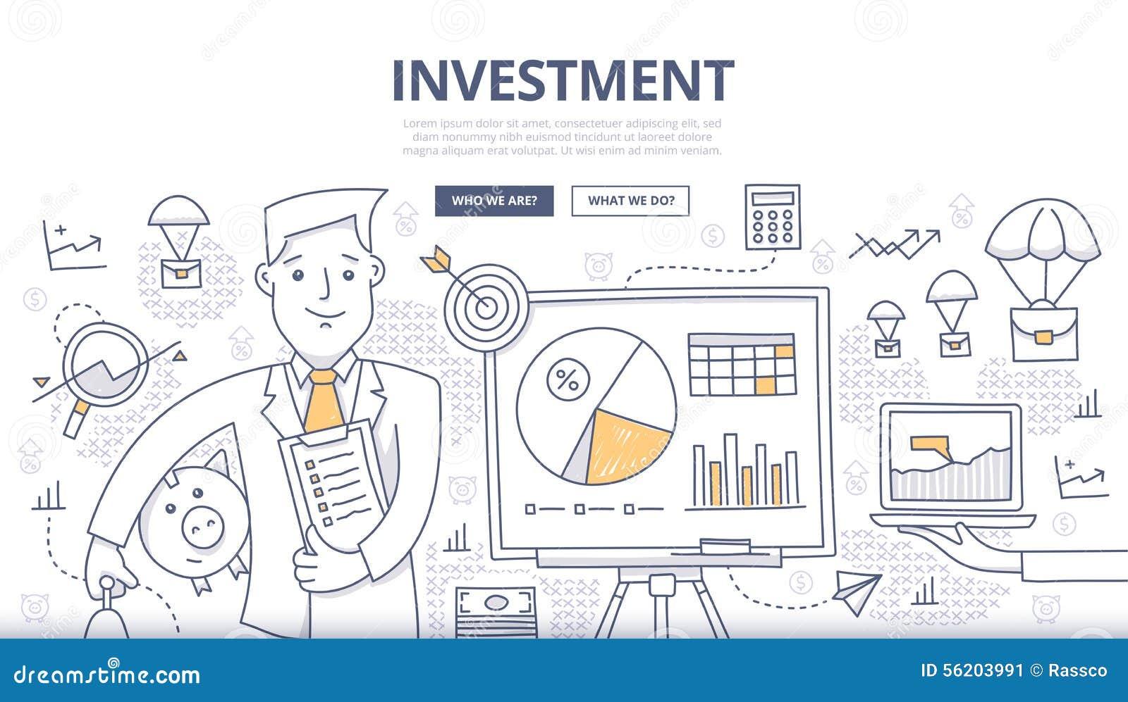 Het Concept van de investeringskrabbel