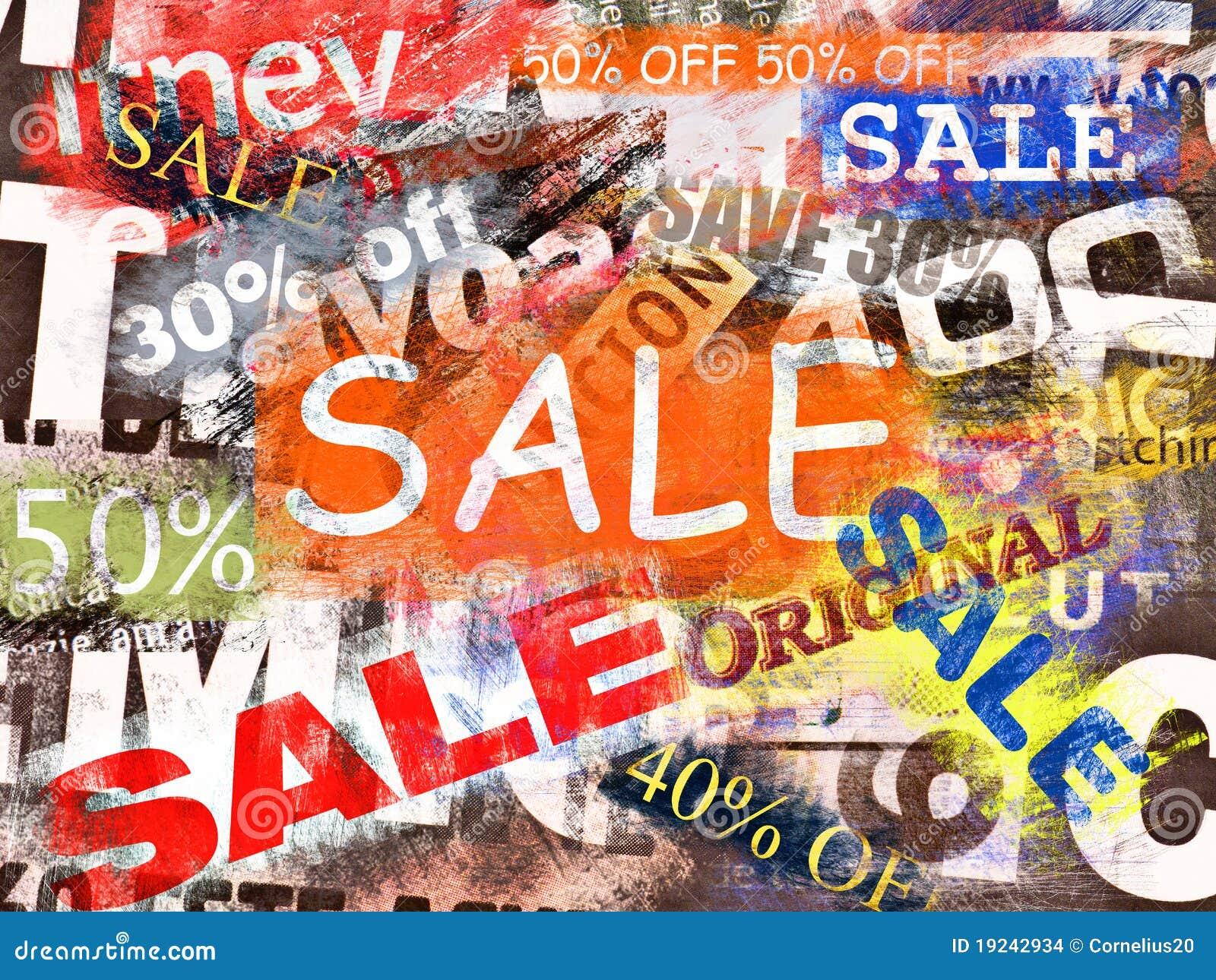 Het concept van de verkoop stock afbeeldingen afbeelding 19242934 - Zinkt de verkoop ...