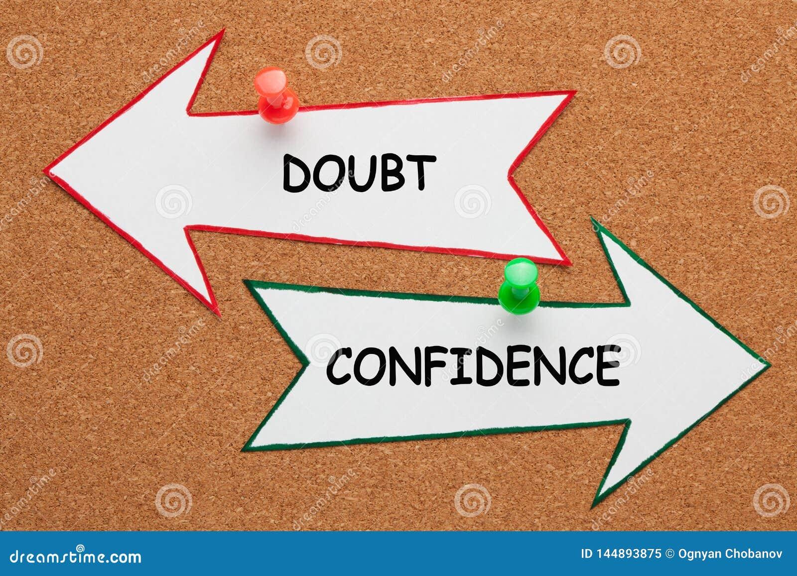 Het Concept van de vertrouwenstwijfel